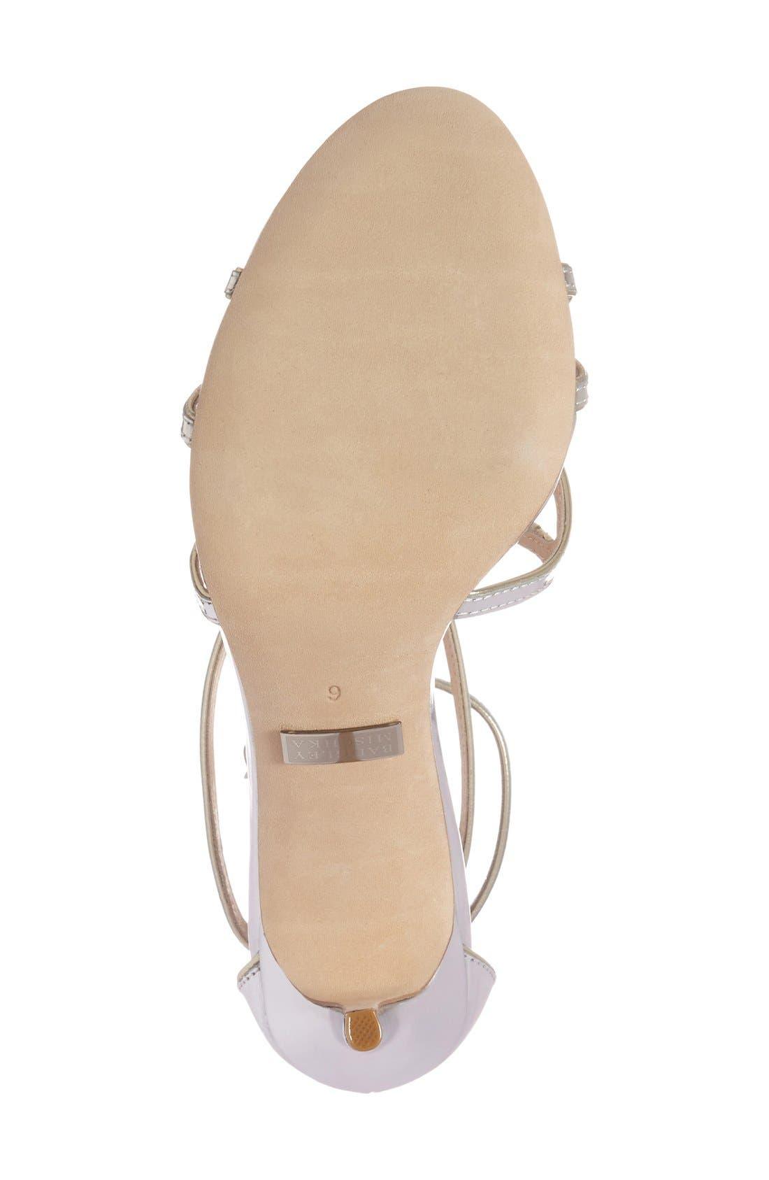 BADGLEY MISCHKA COLLECTION,                             Badgley Mischka 'Lillian' Metallic Evening Sandal,                             Alternate thumbnail 2, color,                             046