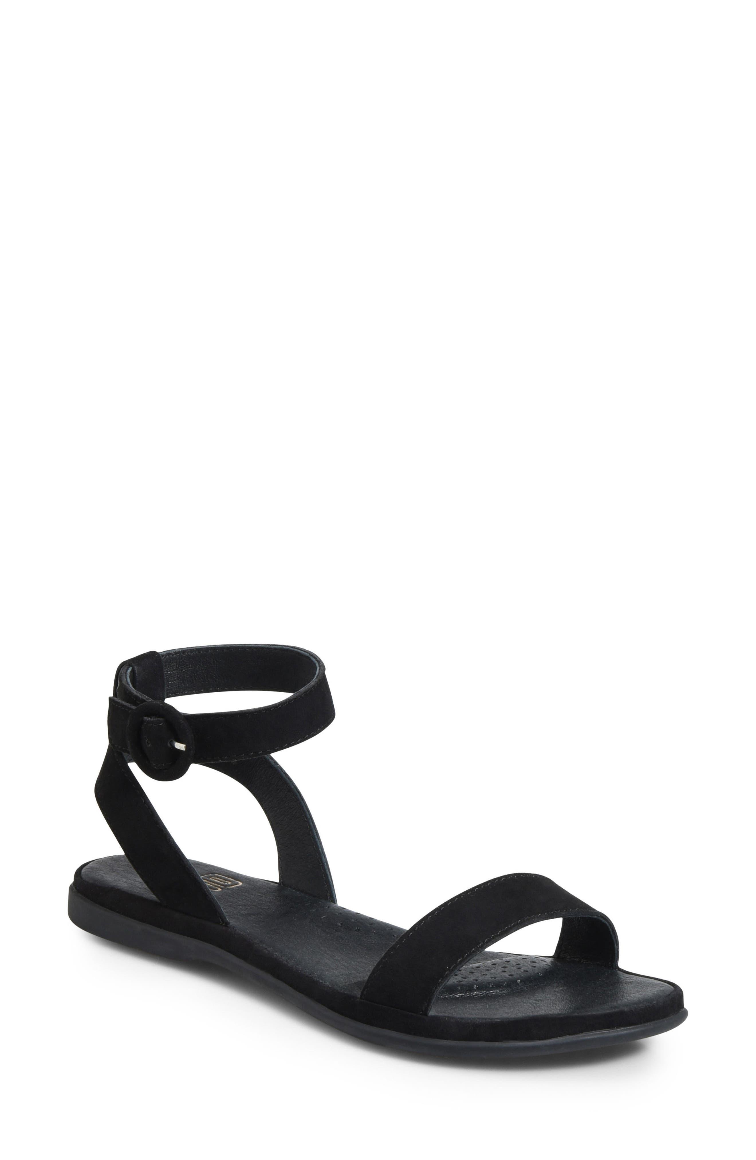 Stellan Sandal,                             Main thumbnail 1, color,                             BLACK SUEDE