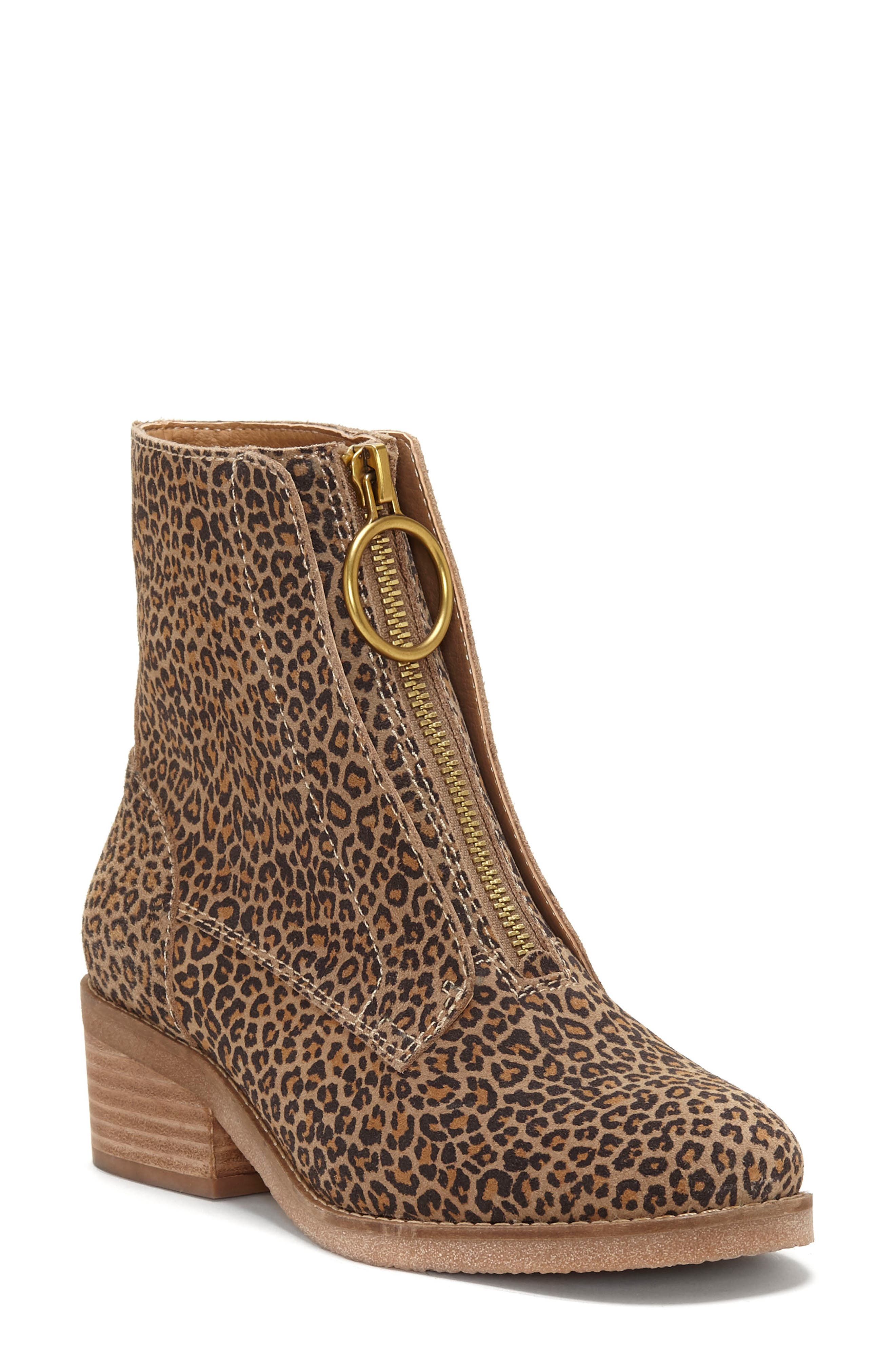 Lucky Brand Tibly Zip Bootie, Brown