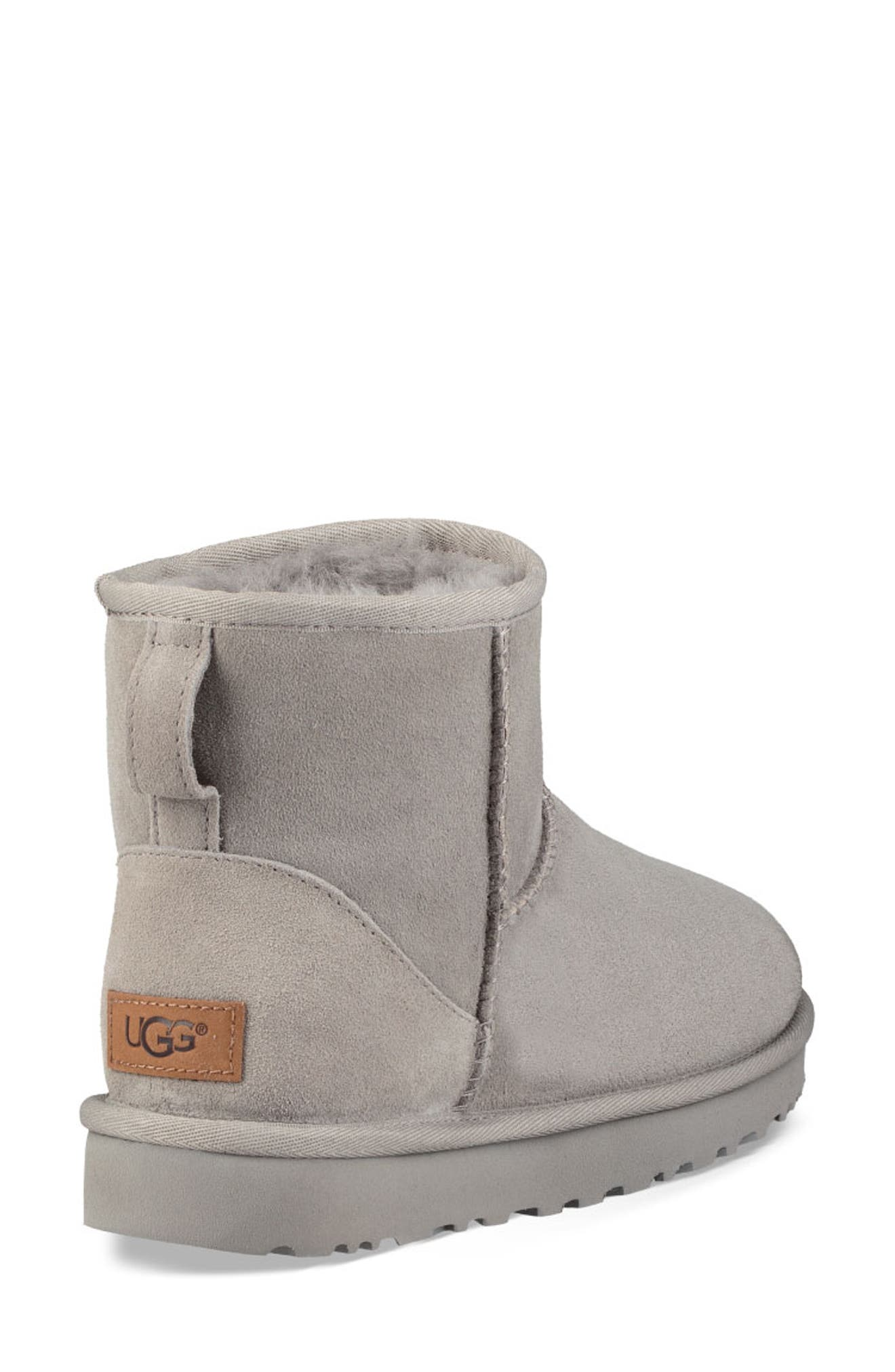 'Classic Mini II' Genuine Shearling Lined Boot,                             Alternate thumbnail 2, color,                             SEAL SUEDE