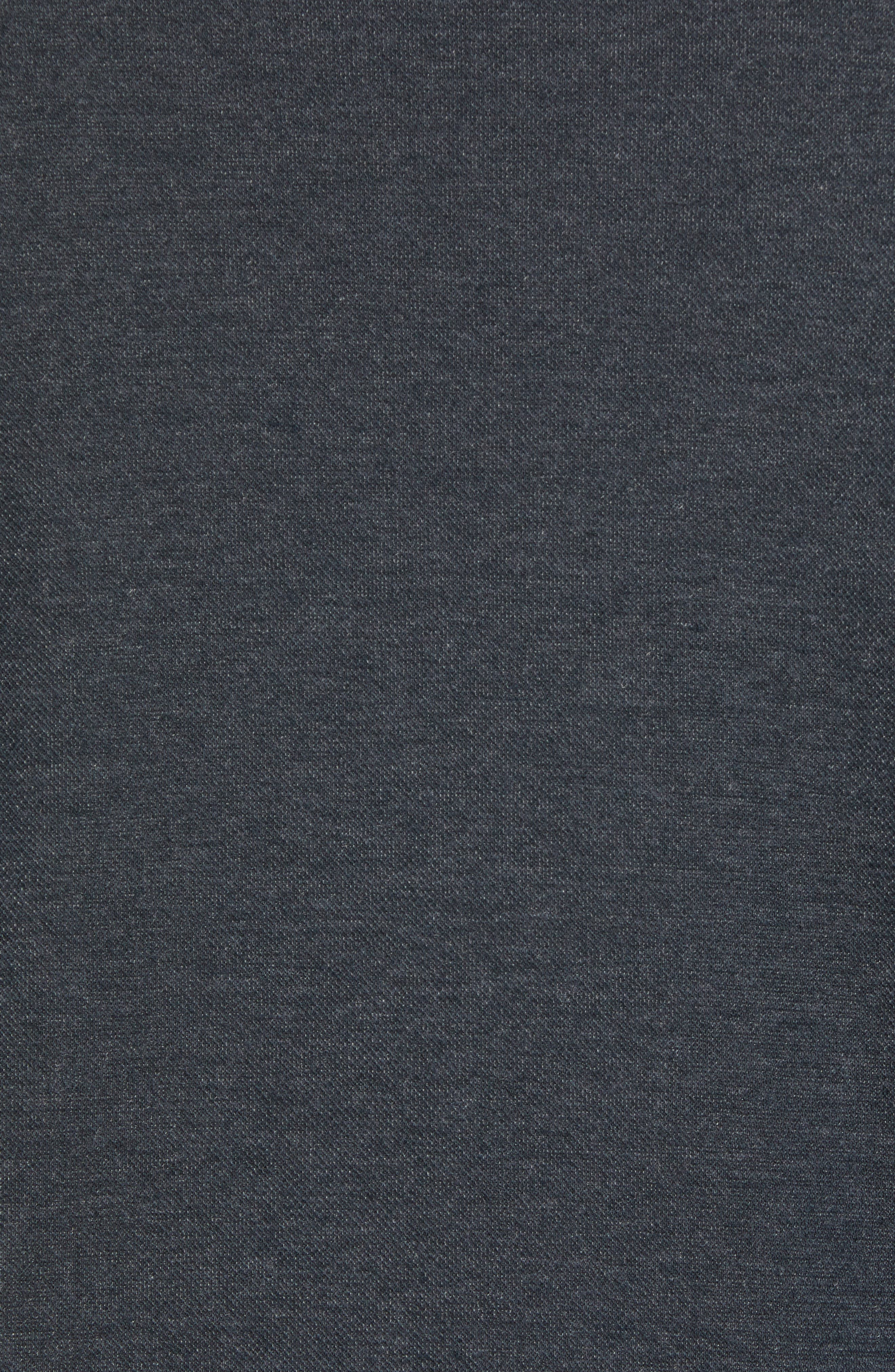 Sandbar Shawl Collar Regular Fit Pullover,                             Alternate thumbnail 5, color,                             COAL