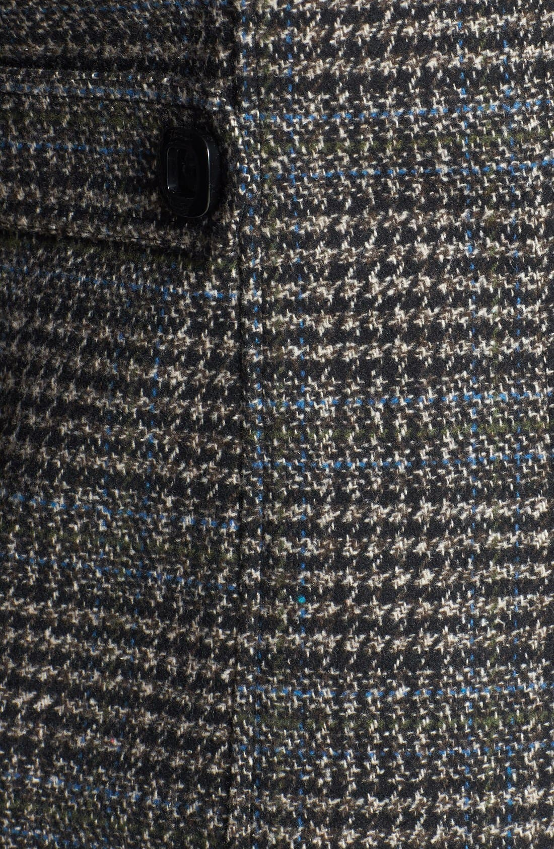 CELEBRITY PINK,                             Plaid Toggle Coat,                             Alternate thumbnail 5, color,                             200