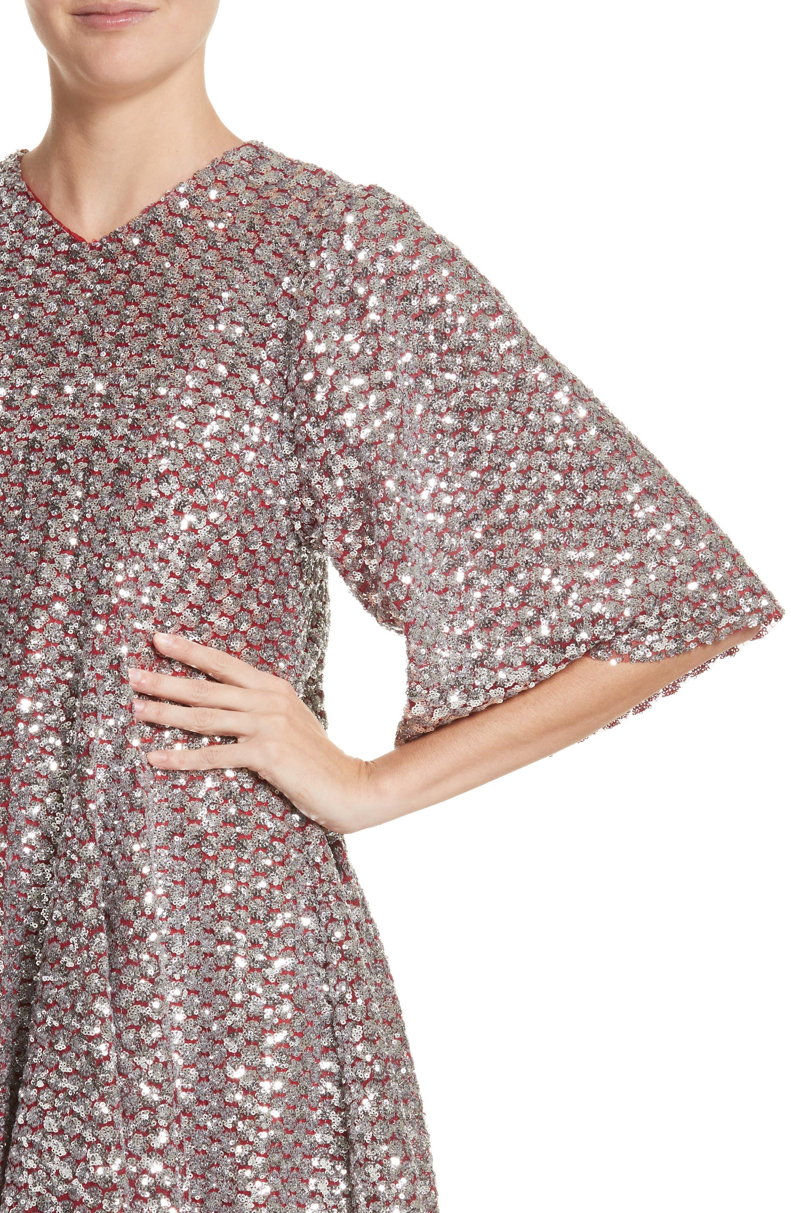 Simmi Sequin Dress,                             Alternate thumbnail 4, color,                             040