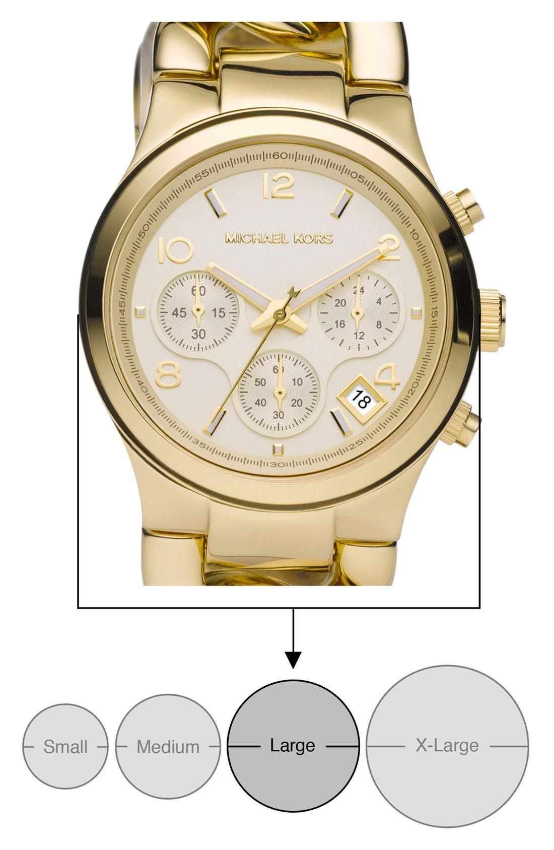 Michael Kors Chain Bracelet Chronograph Watch, 38mm,                             Alternate thumbnail 13, color,