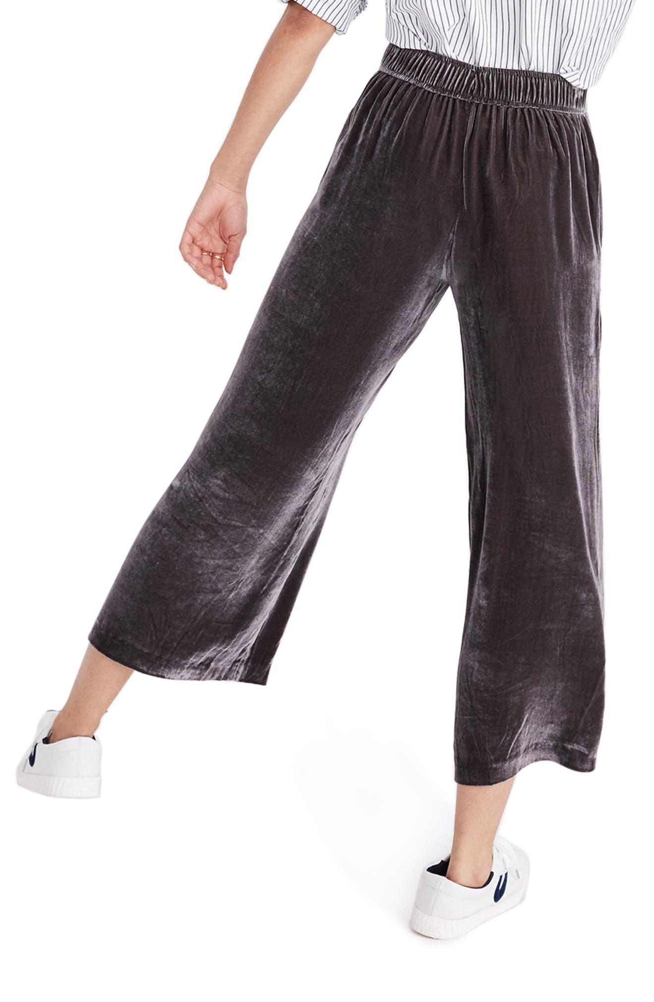 Velvet Pants,                             Alternate thumbnail 3, color,