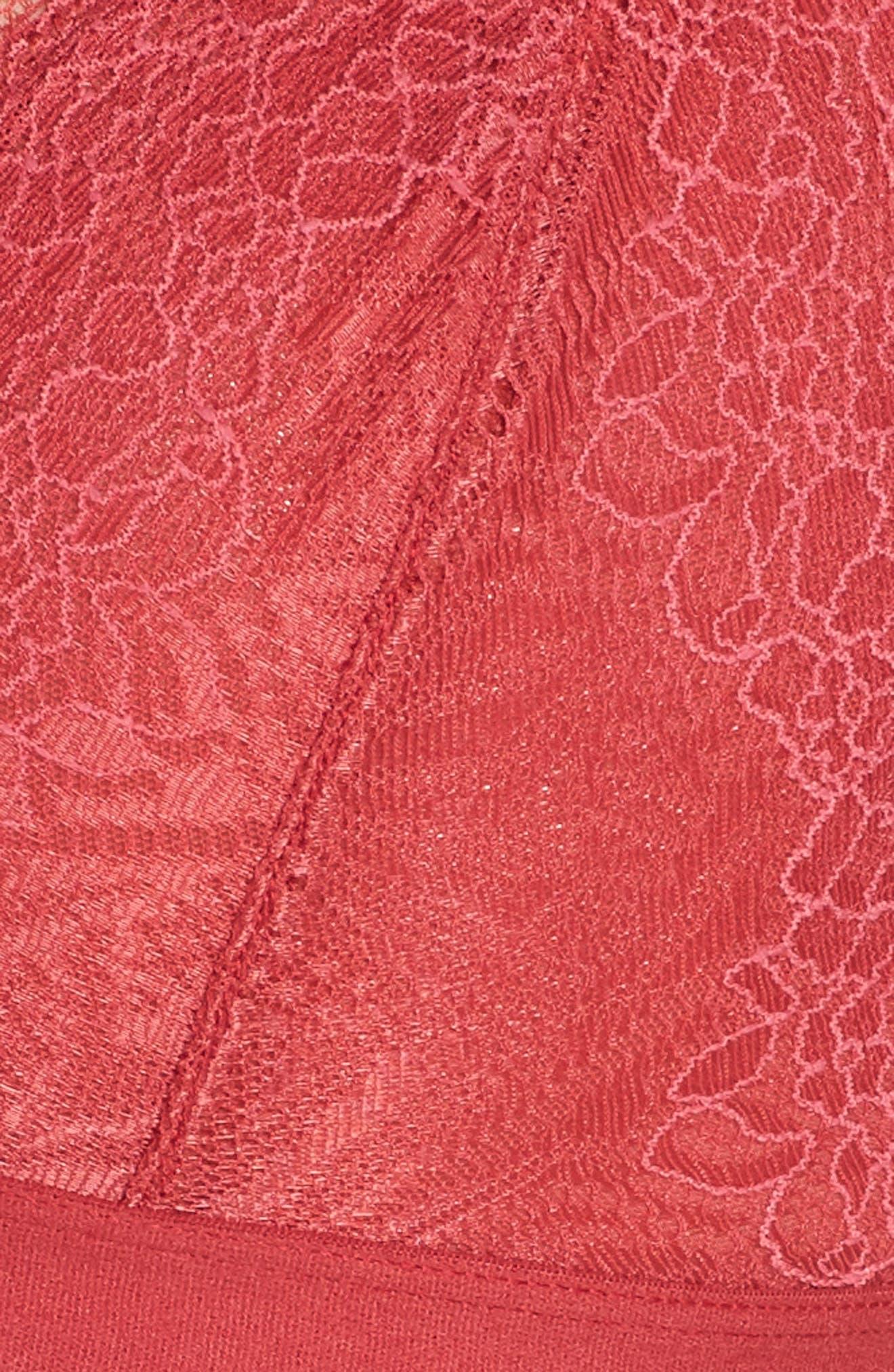 Lace Bralette,                             Alternate thumbnail 6, color,                             DEEP CARMINE