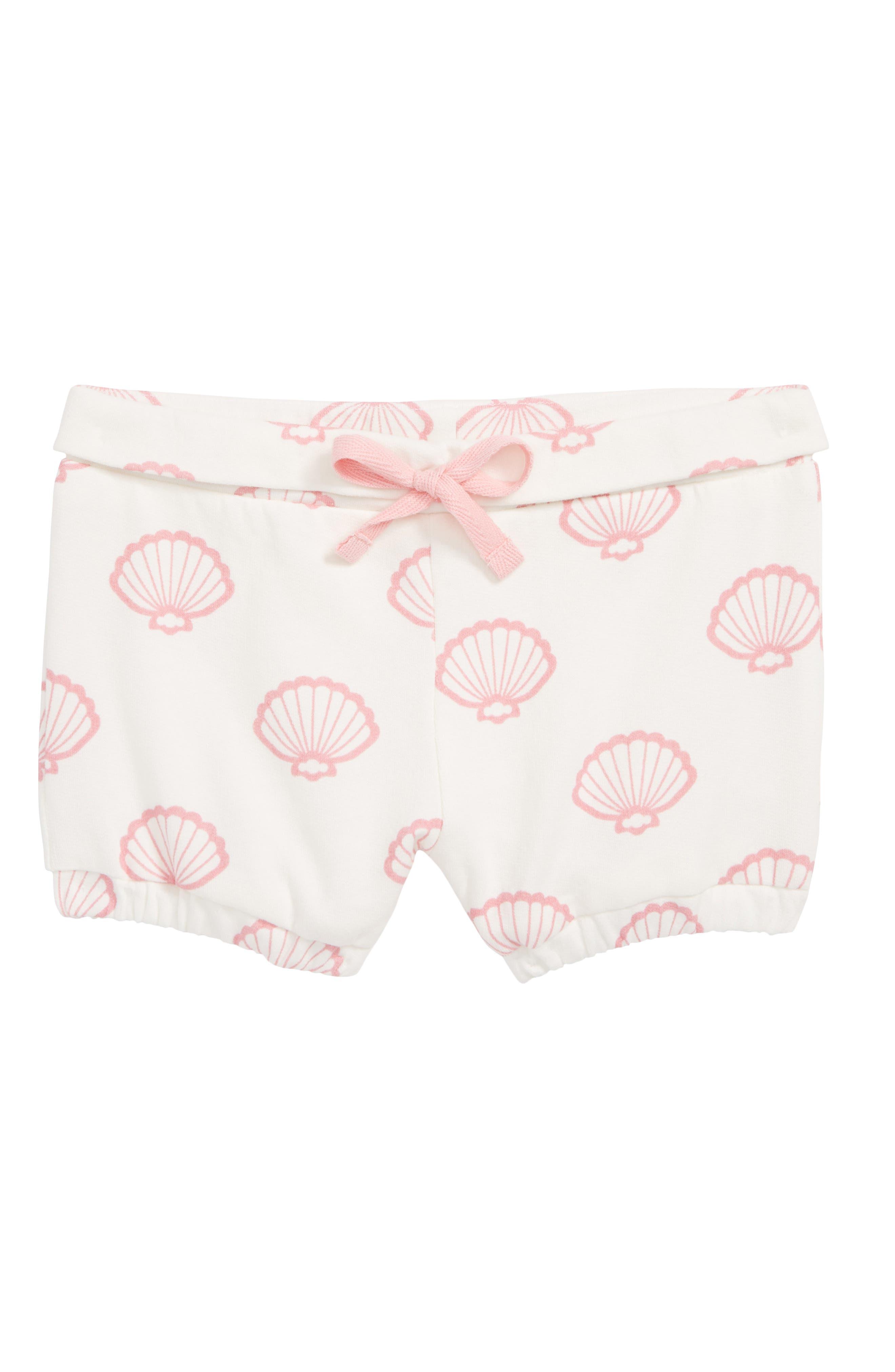 Organic Cotton Knit Shorts,                             Main thumbnail 1, color,                             VITAMIN SEA