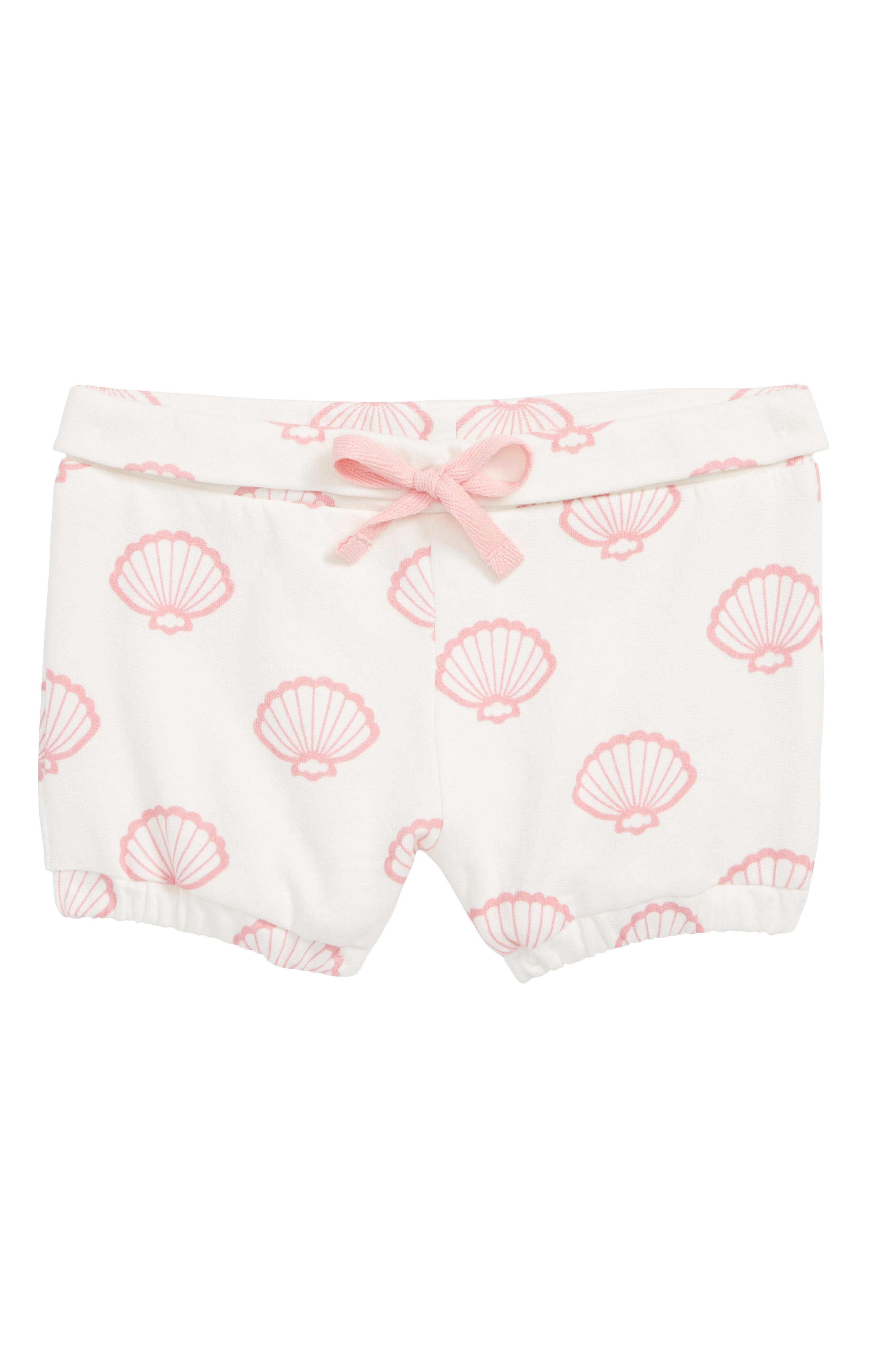 Organic Cotton Knit Shorts,                         Main,                         color, VITAMIN SEA
