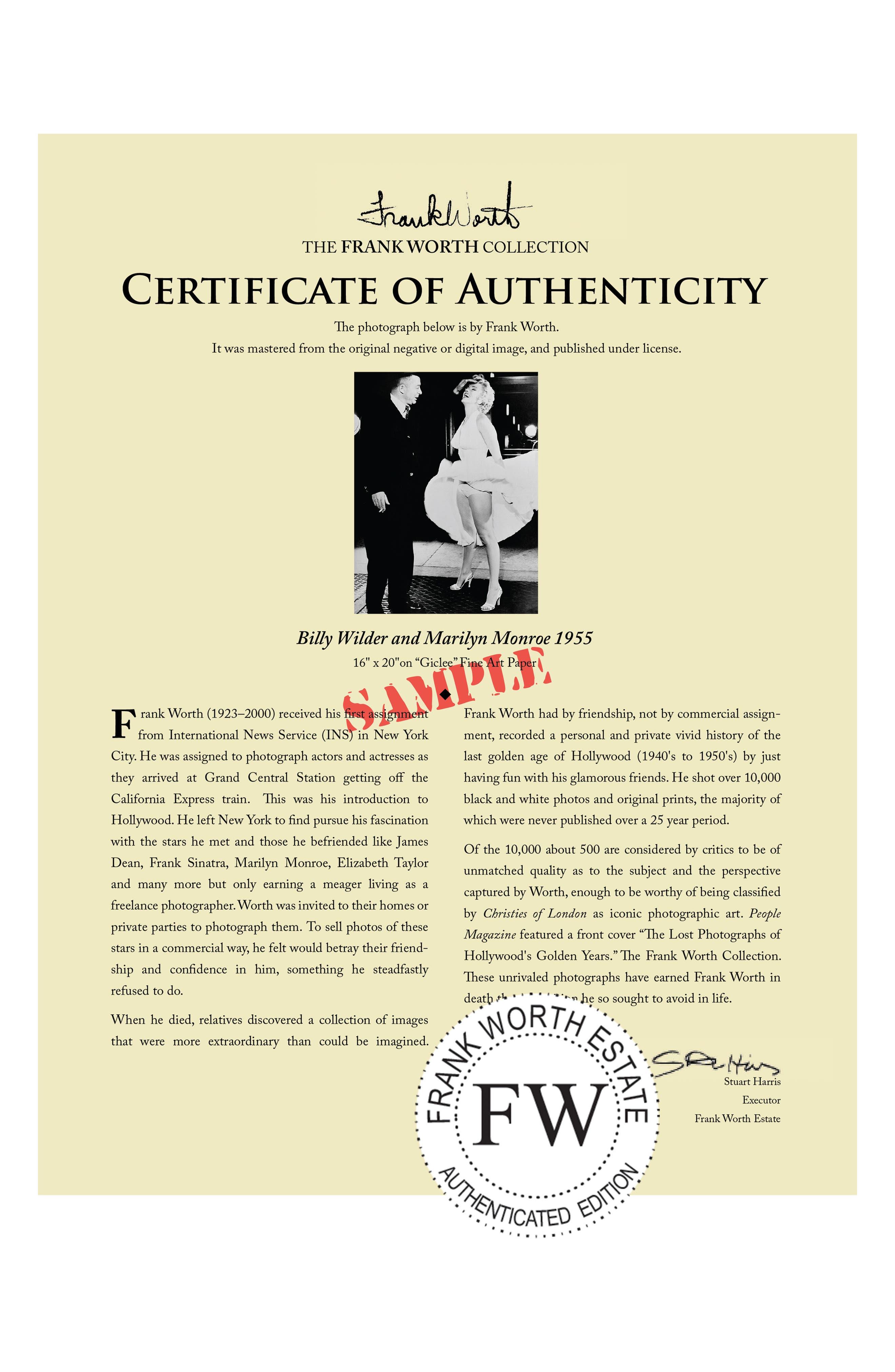 ARTOGRAPHY LIMITED,                             Billy Wilder & Marilyn Monroe Fine Art Print,                             Alternate thumbnail 2, color,                             001