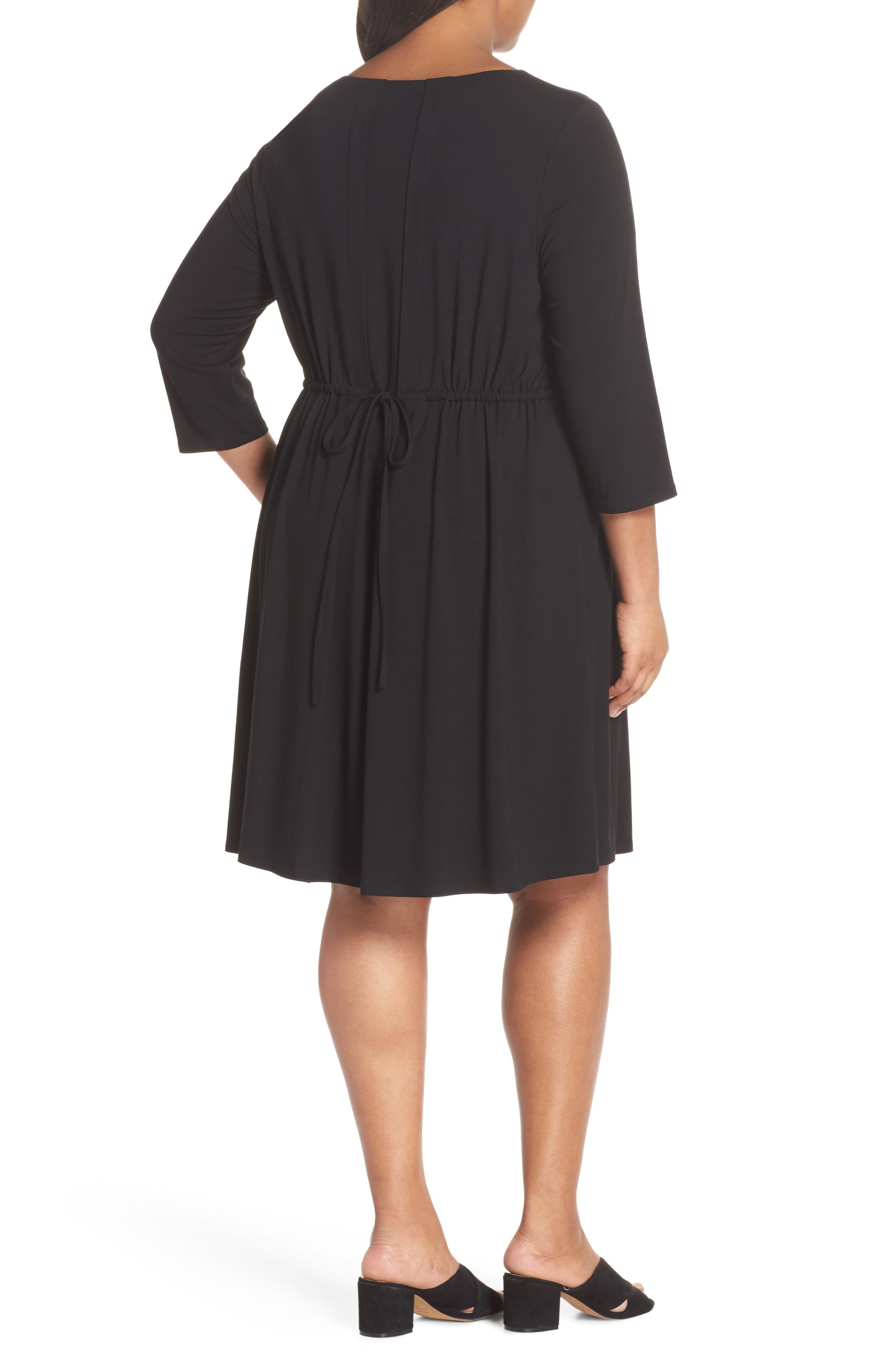 Jewel Neck Tie Back Dress,                             Alternate thumbnail 6, color,