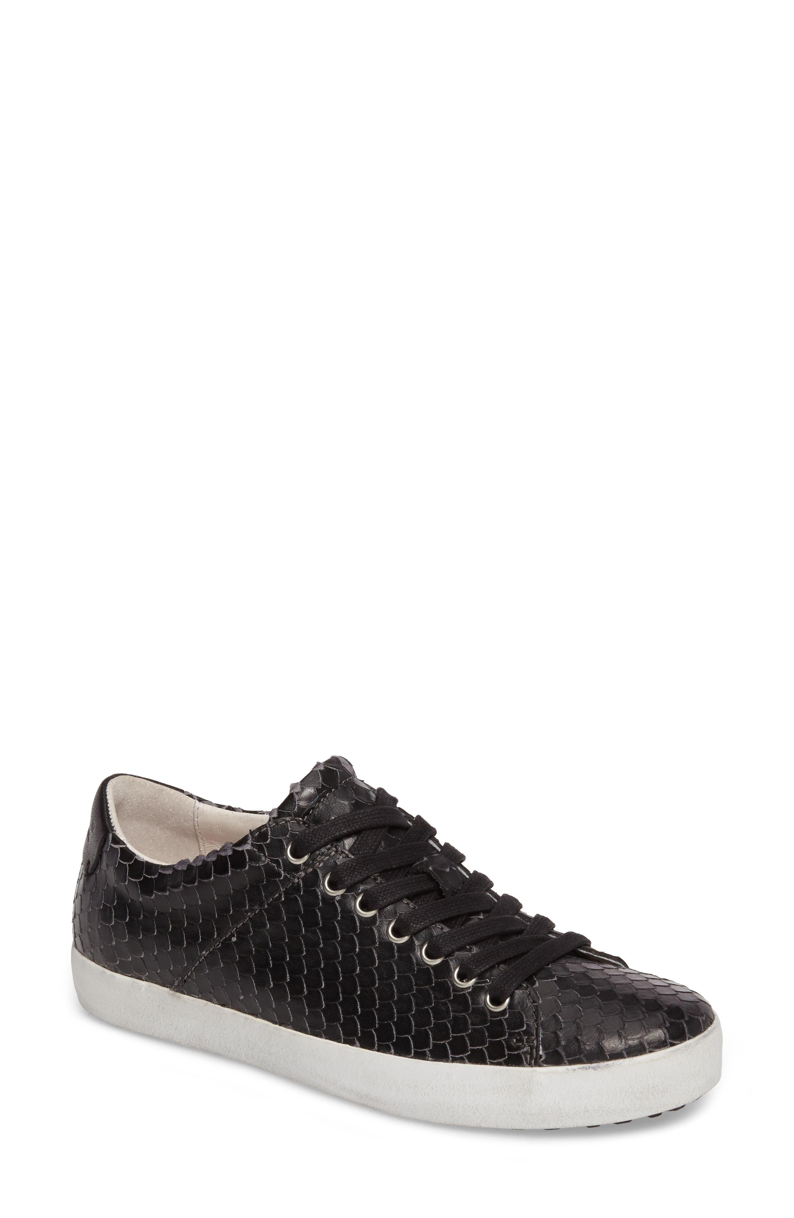 OL25 Sneaker,                         Main,                         color, BLACK LEATHER