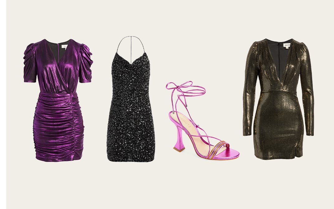 Glamour, glitz and hi-vis prints: holiday styles for women.