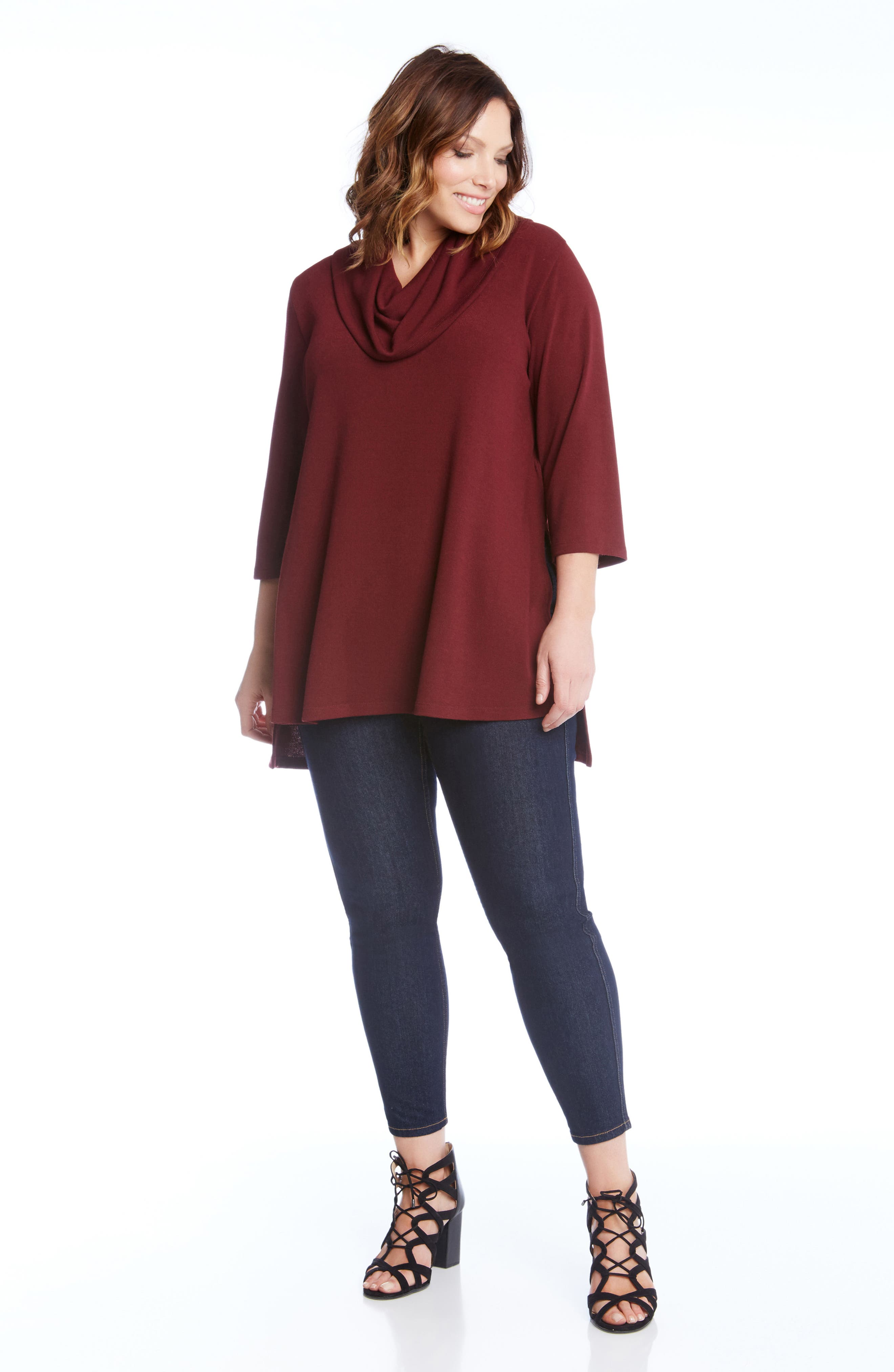 Cowl Neck High/Low Sweater,                             Alternate thumbnail 8, color,