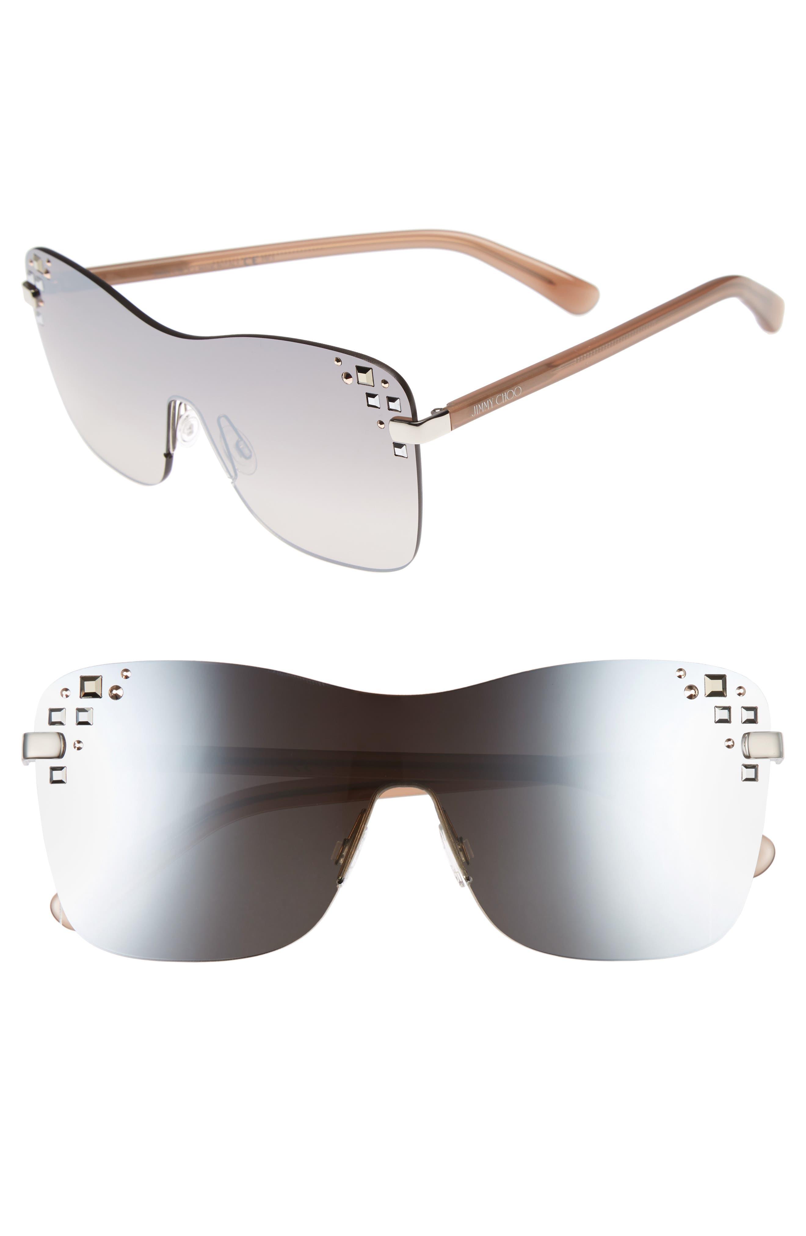 Masks 63mm Rimless Shield Sunglasses,                             Main thumbnail 1, color,