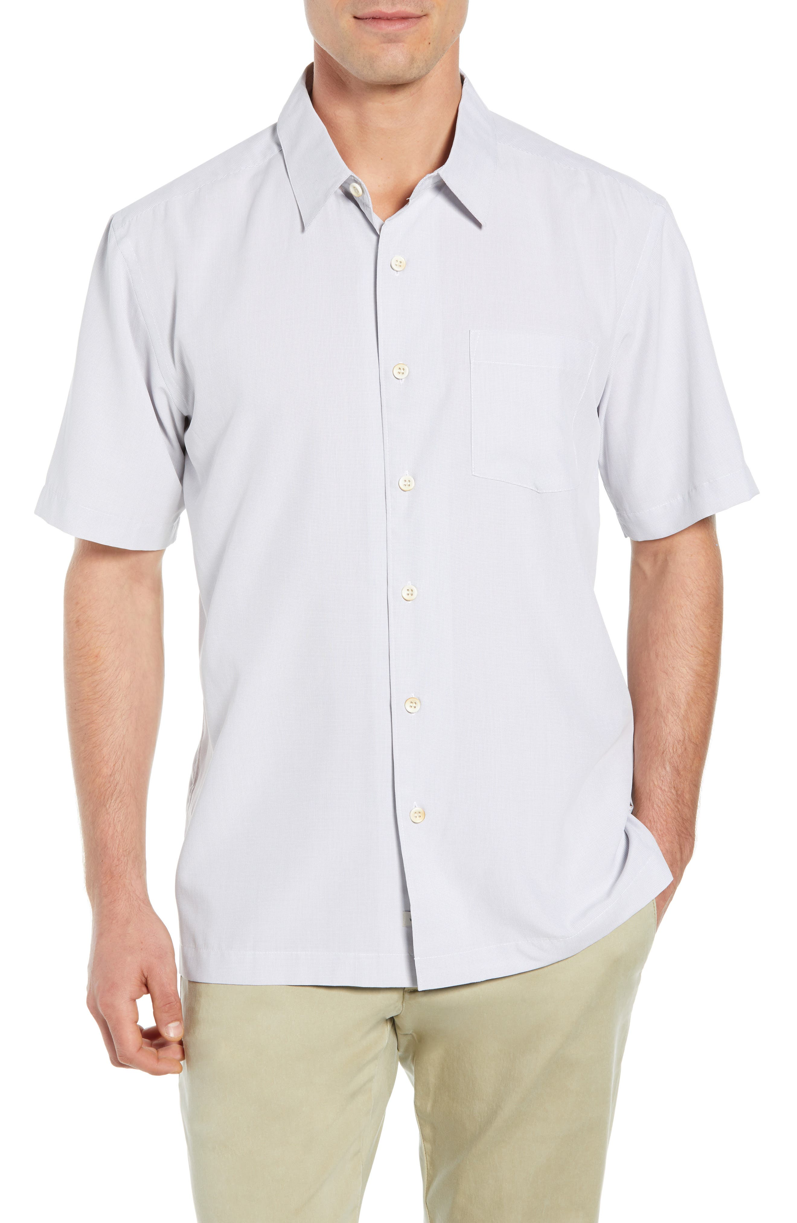 Cane Island Classic Fit Camp Shirt,                             Main thumbnail 1, color,                             101