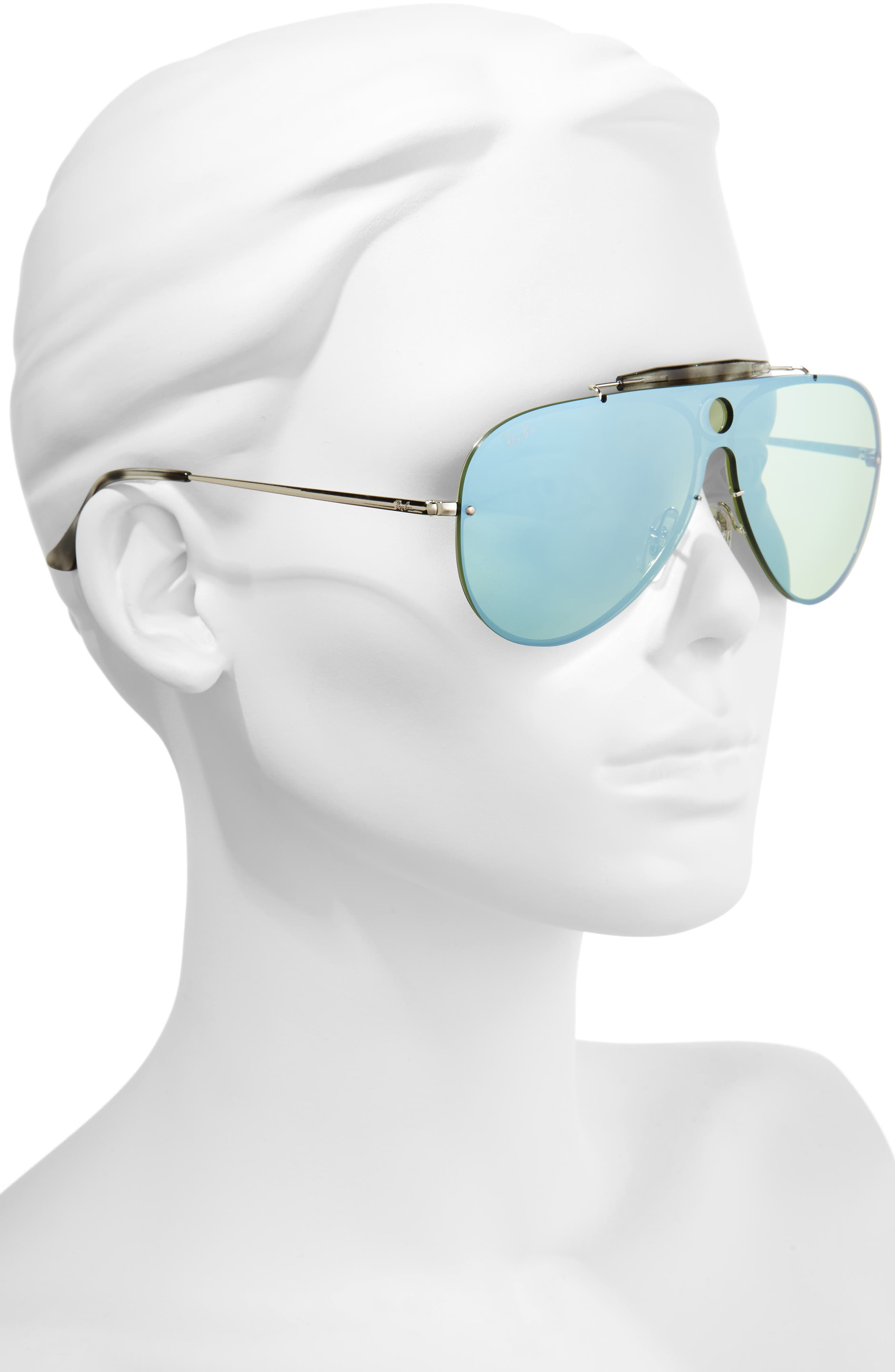 Aviator Shield Sunglasses,                             Alternate thumbnail 5, color,