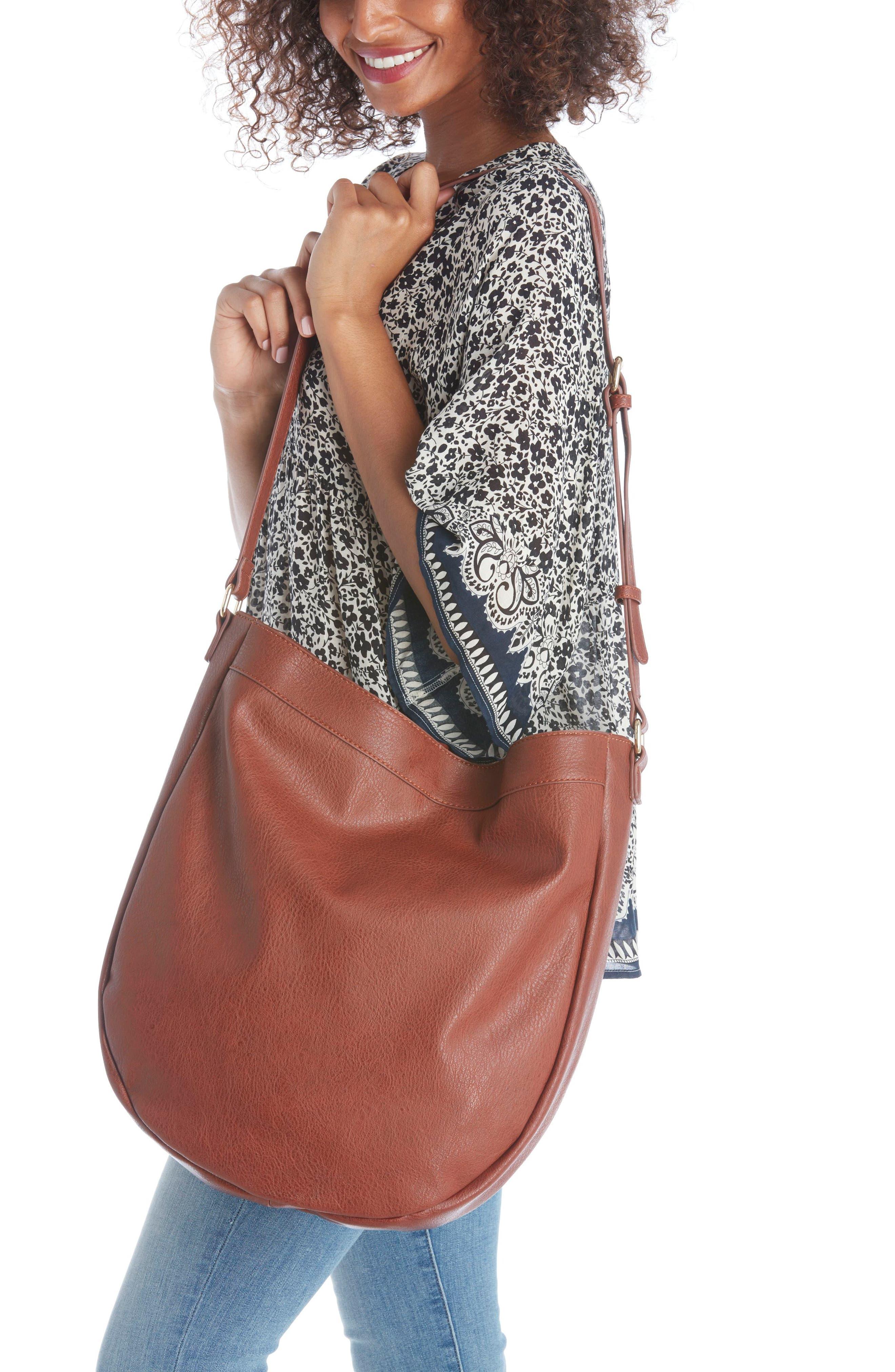 Kadence Faux Leather Shoulder Bag,                             Alternate thumbnail 13, color,