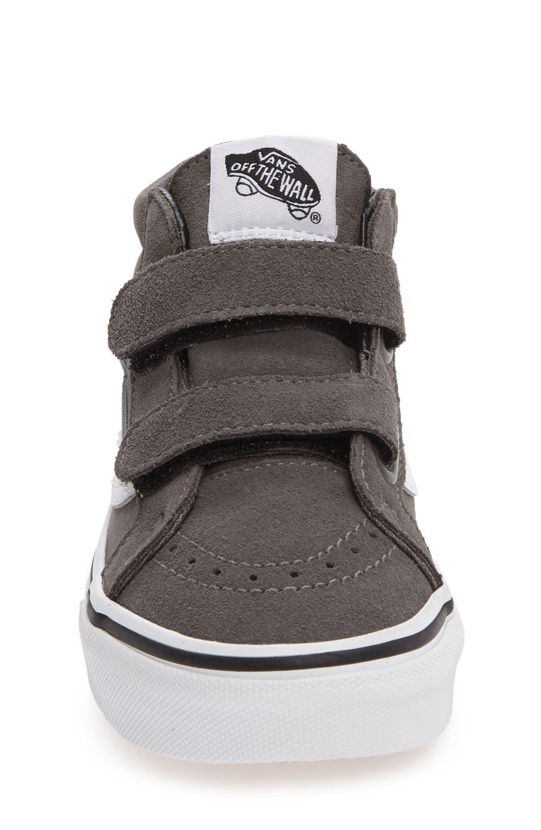 SK8 Mid-Top Reissue Sneaker,                             Alternate thumbnail 3, color,                             GREY FABRIC
