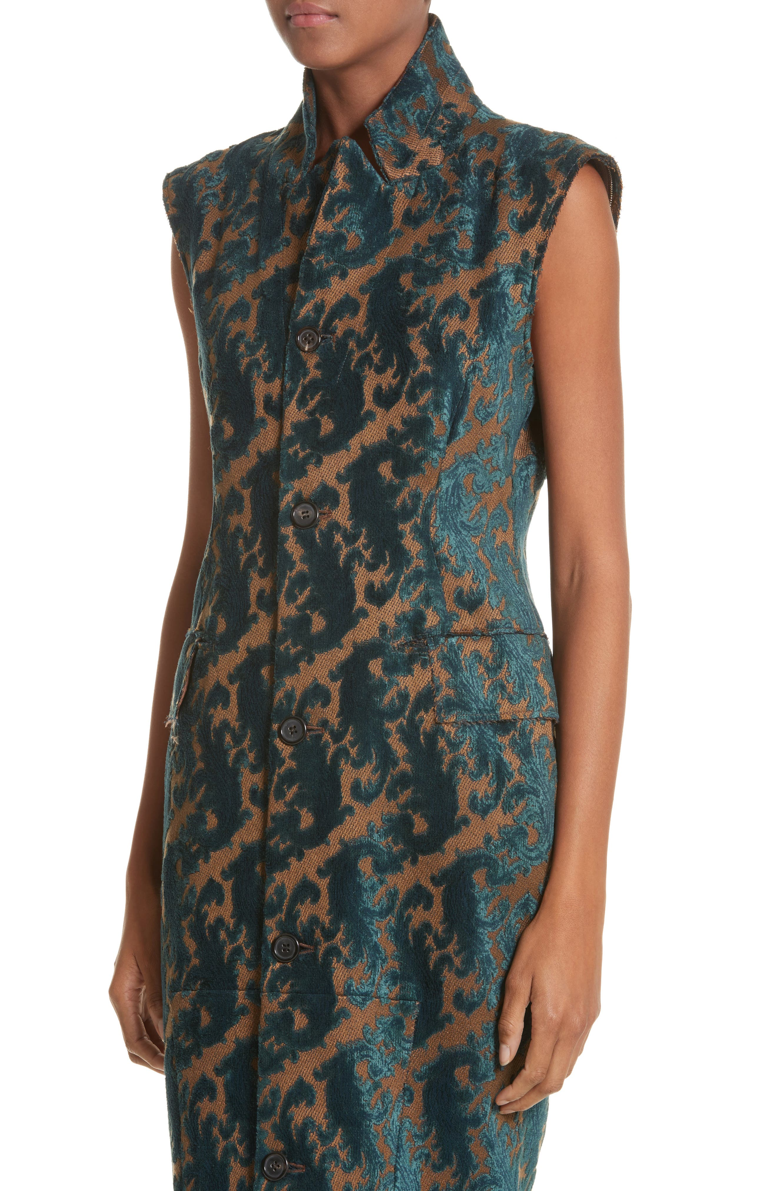 Detachable Sleeve Coat Dress,                             Alternate thumbnail 4, color,                             960