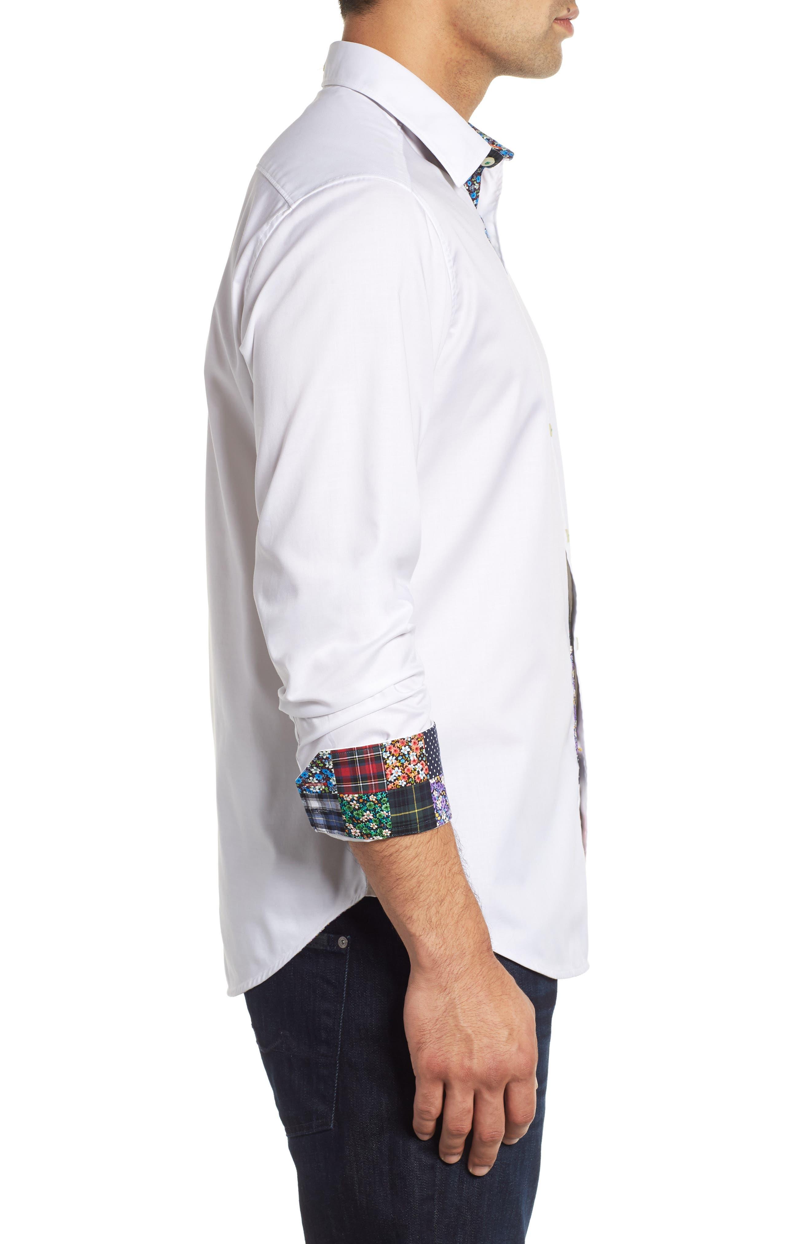 ROBERT GRAHAM,                             Bridgeman Classic Fit Sport Shirt,                             Alternate thumbnail 4, color,                             100
