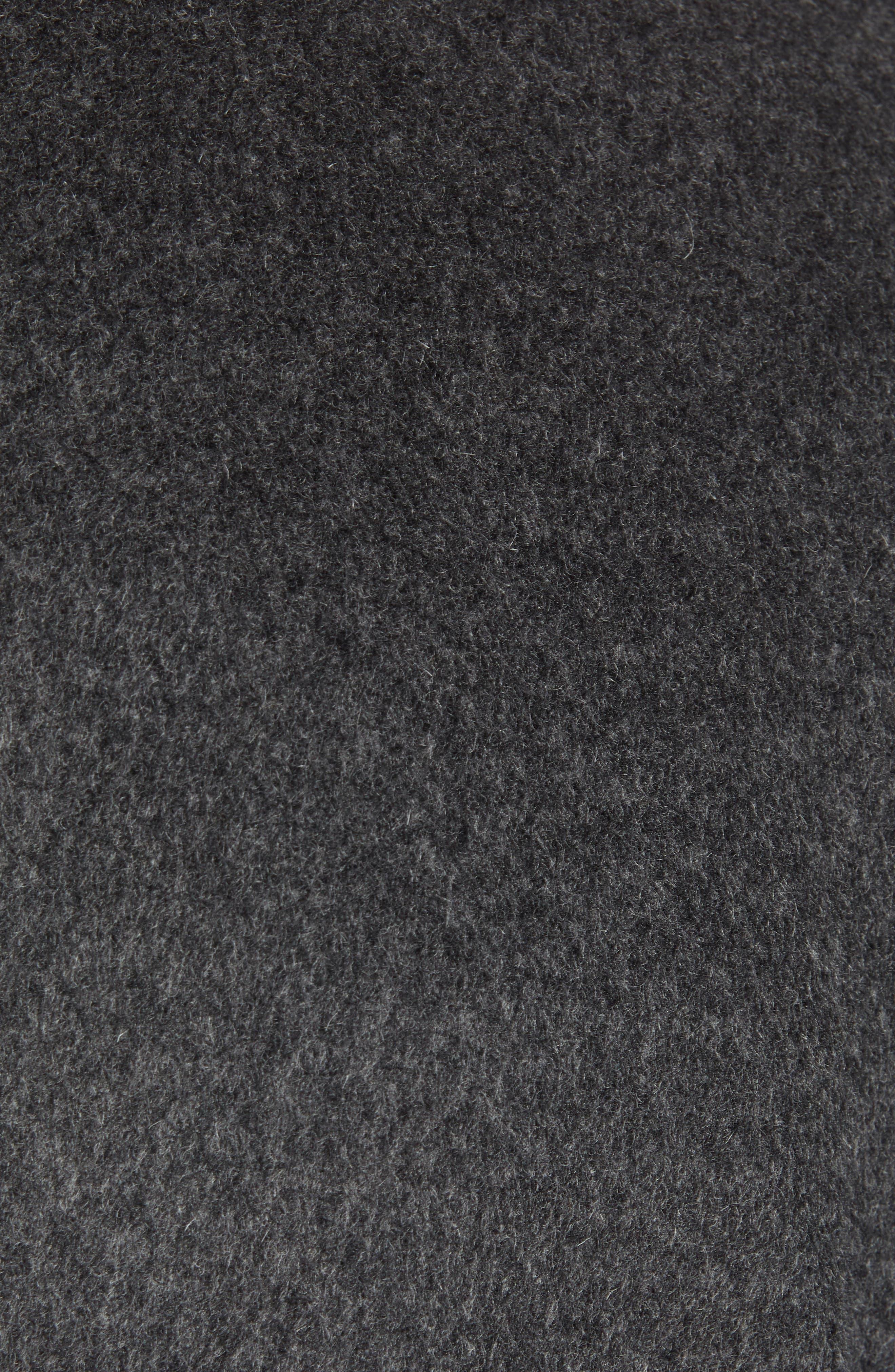 Mason Wool & Cashmere Overcoat,                             Alternate thumbnail 7, color,                             CHARCOAL