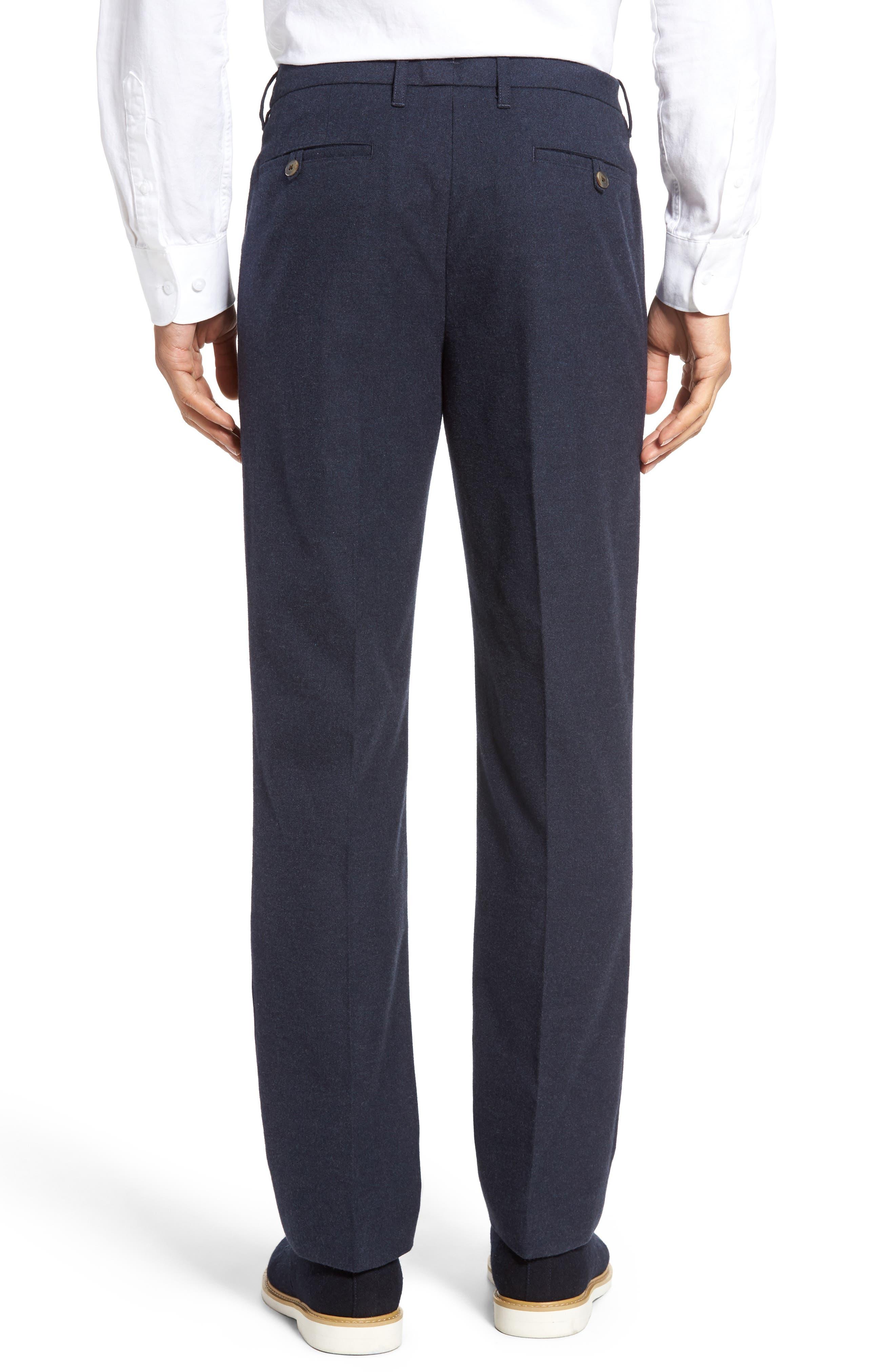 BONOBOS,                             Slim Fit Flannel Trousers,                             Alternate thumbnail 3, color,                             400