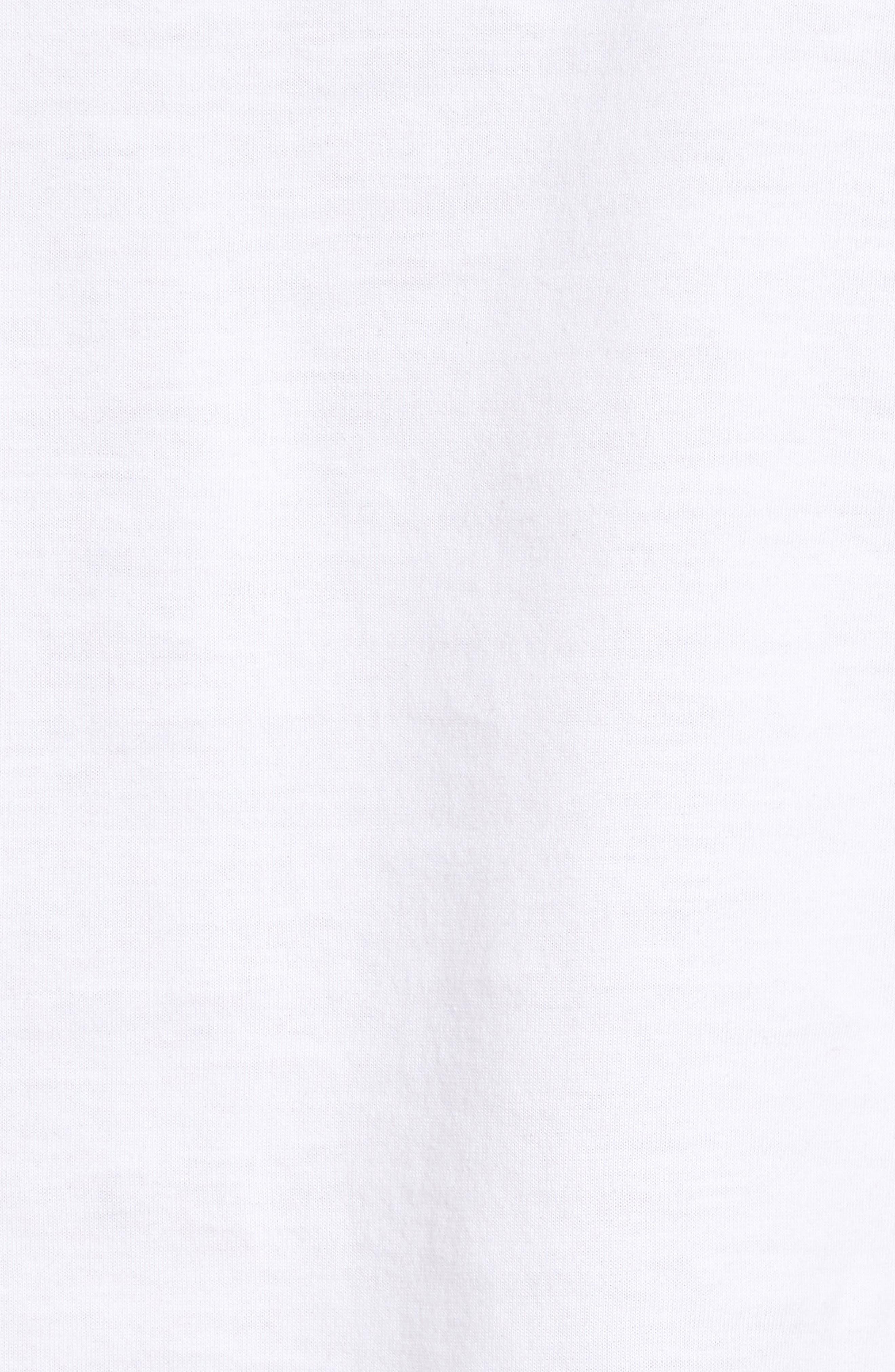 4-Pack Trim Fit Supima<sup>®</sup> Cotton V-Neck T-Shirts,                             Alternate thumbnail 6, color,                             WHITE