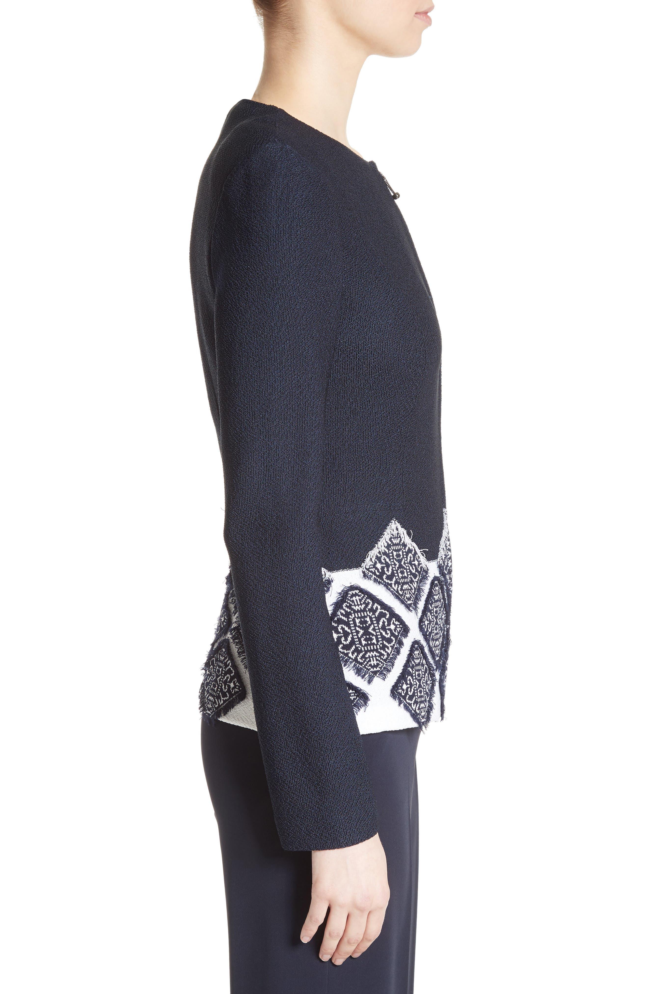 Ahem Knit Fil Coupé Jacket,                             Alternate thumbnail 3, color,                             410