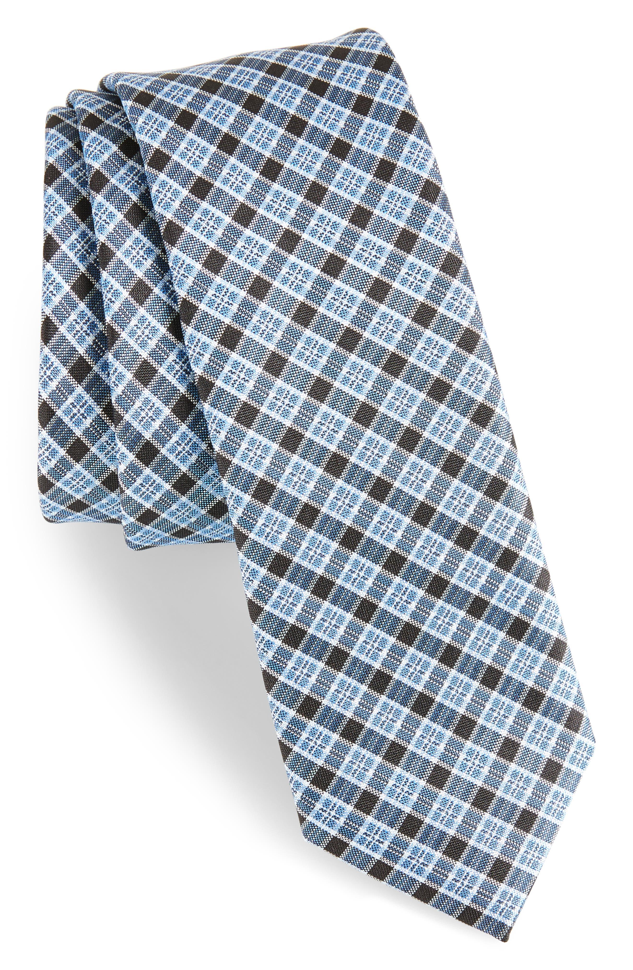 Plaid Silk Tie,                         Main,                         color, 410