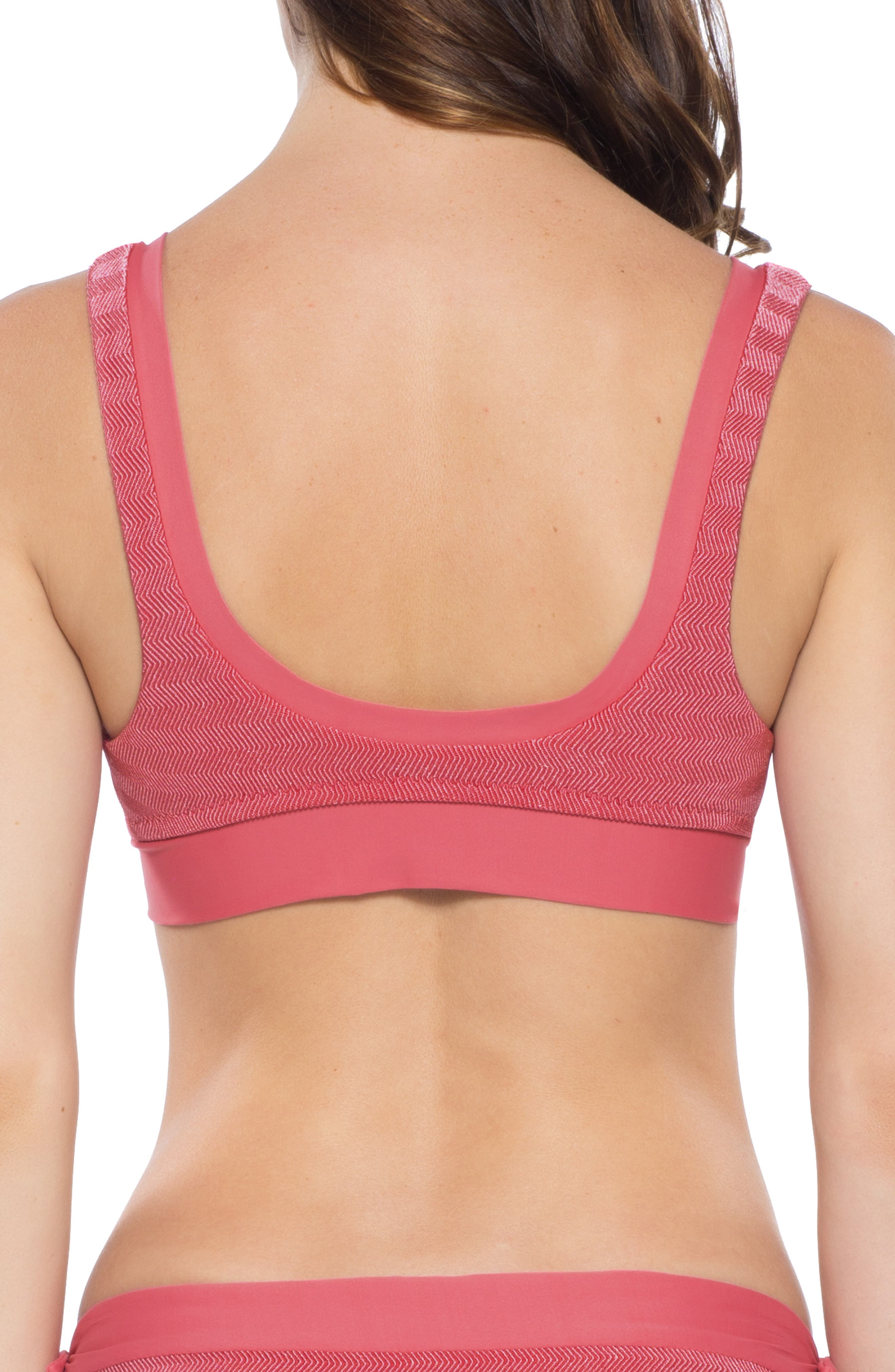 Canyon Mesa Tie Front Bikini Top,                             Alternate thumbnail 2, color,                             BAKED BLUSH