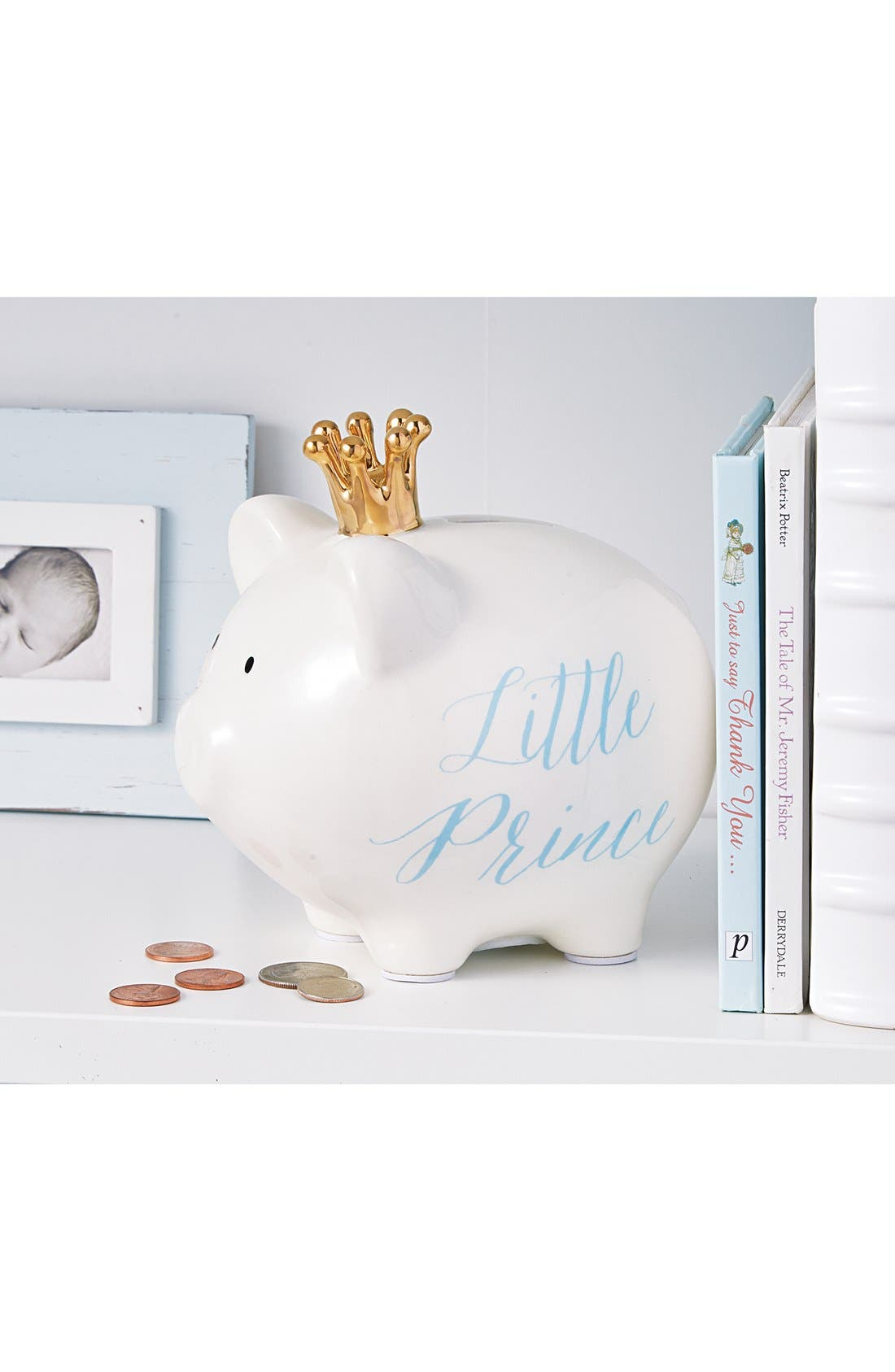 'Little Princess' Ceramic Piggy Bank,                             Alternate thumbnail 2, color,                             100