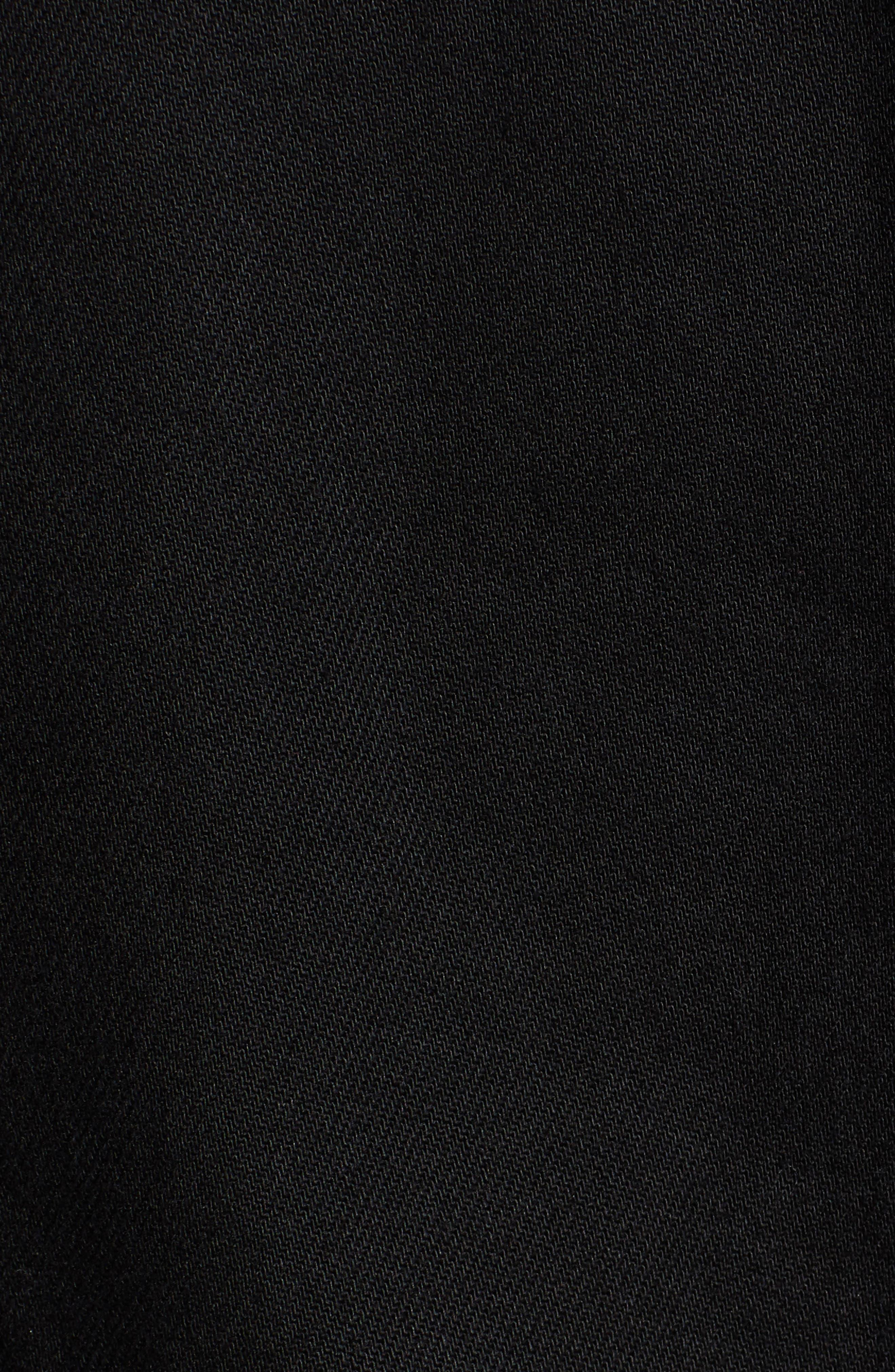 Lined Denim Trucker Jacket,                             Alternate thumbnail 7, color,                             BLACK SHERPA