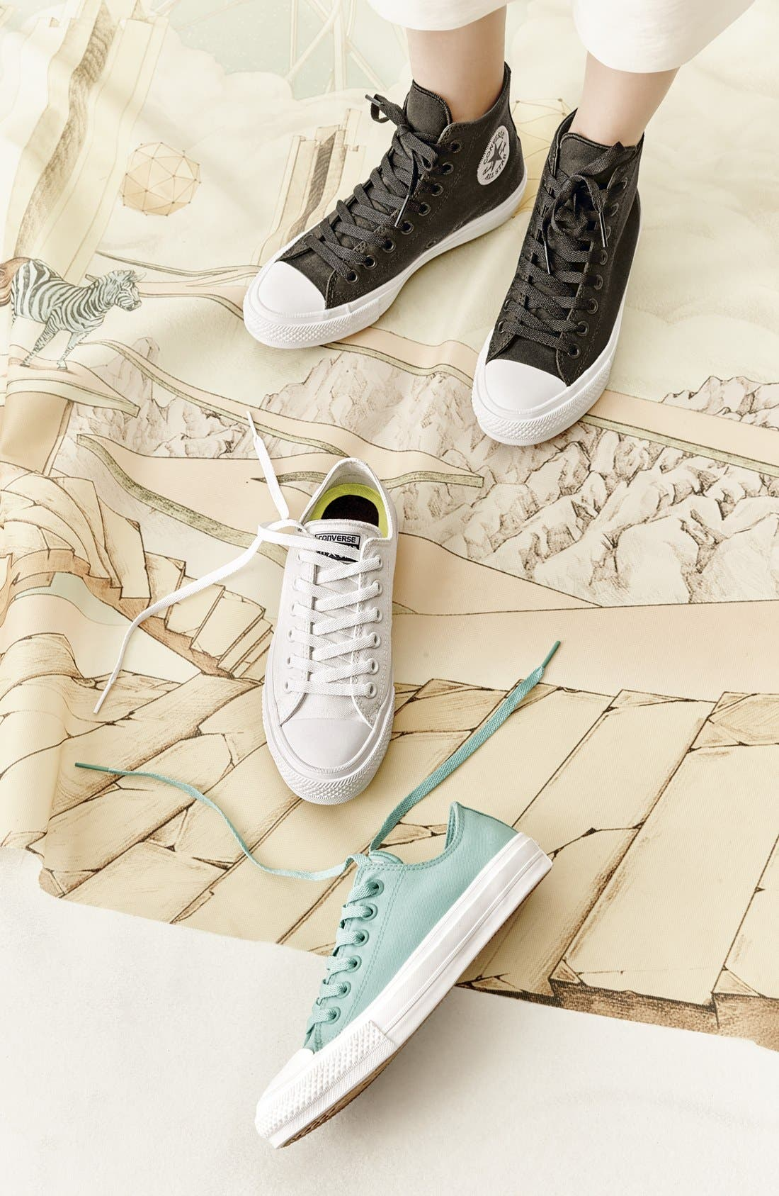Chuck Taylor<sup>®</sup> All Star<sup>®</sup> 'Chuck II' Low Top Sneaker,                             Main thumbnail 1, color,                             007