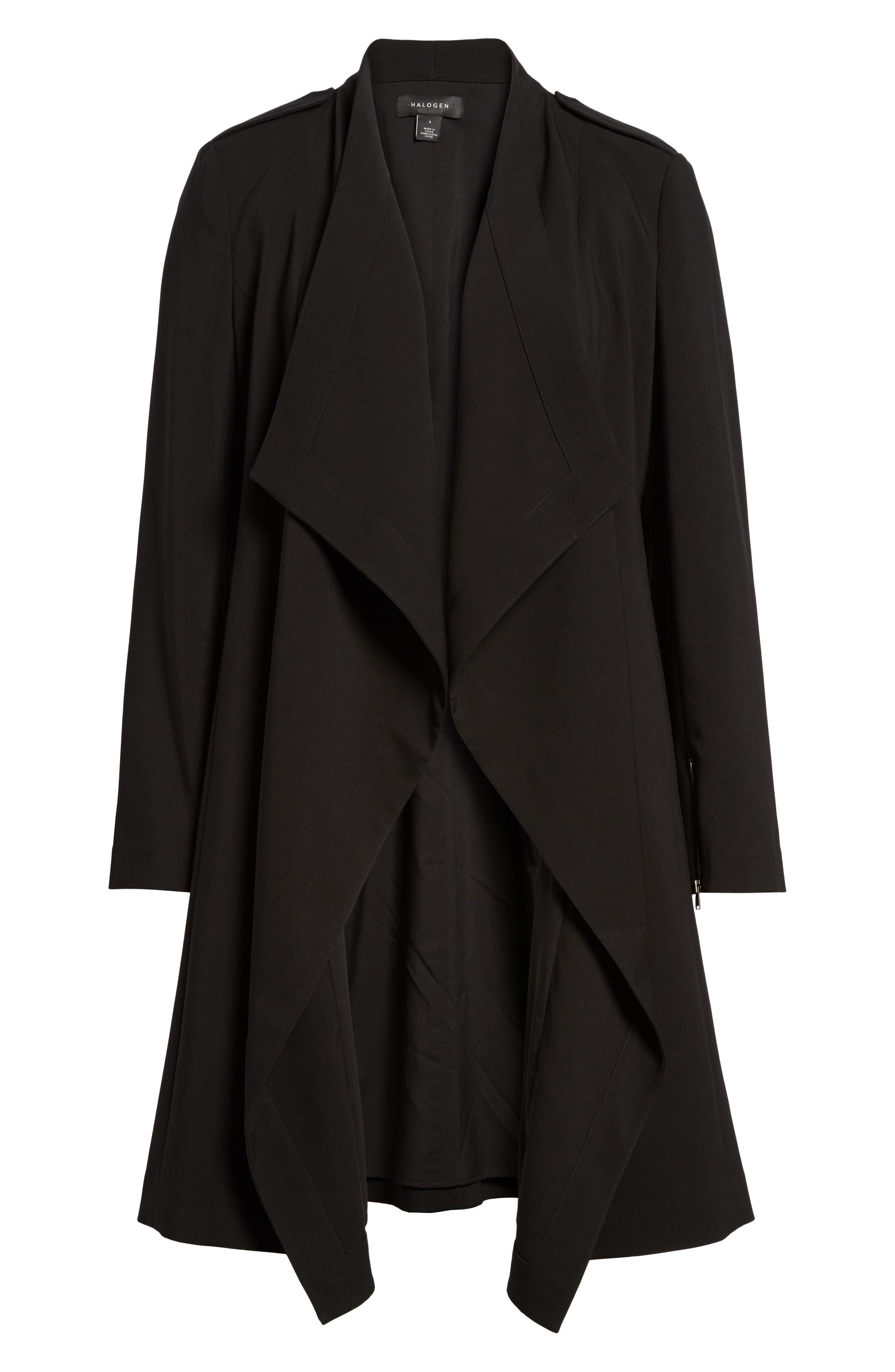 Drape Jacket,                             Alternate thumbnail 5, color,                             BLACK