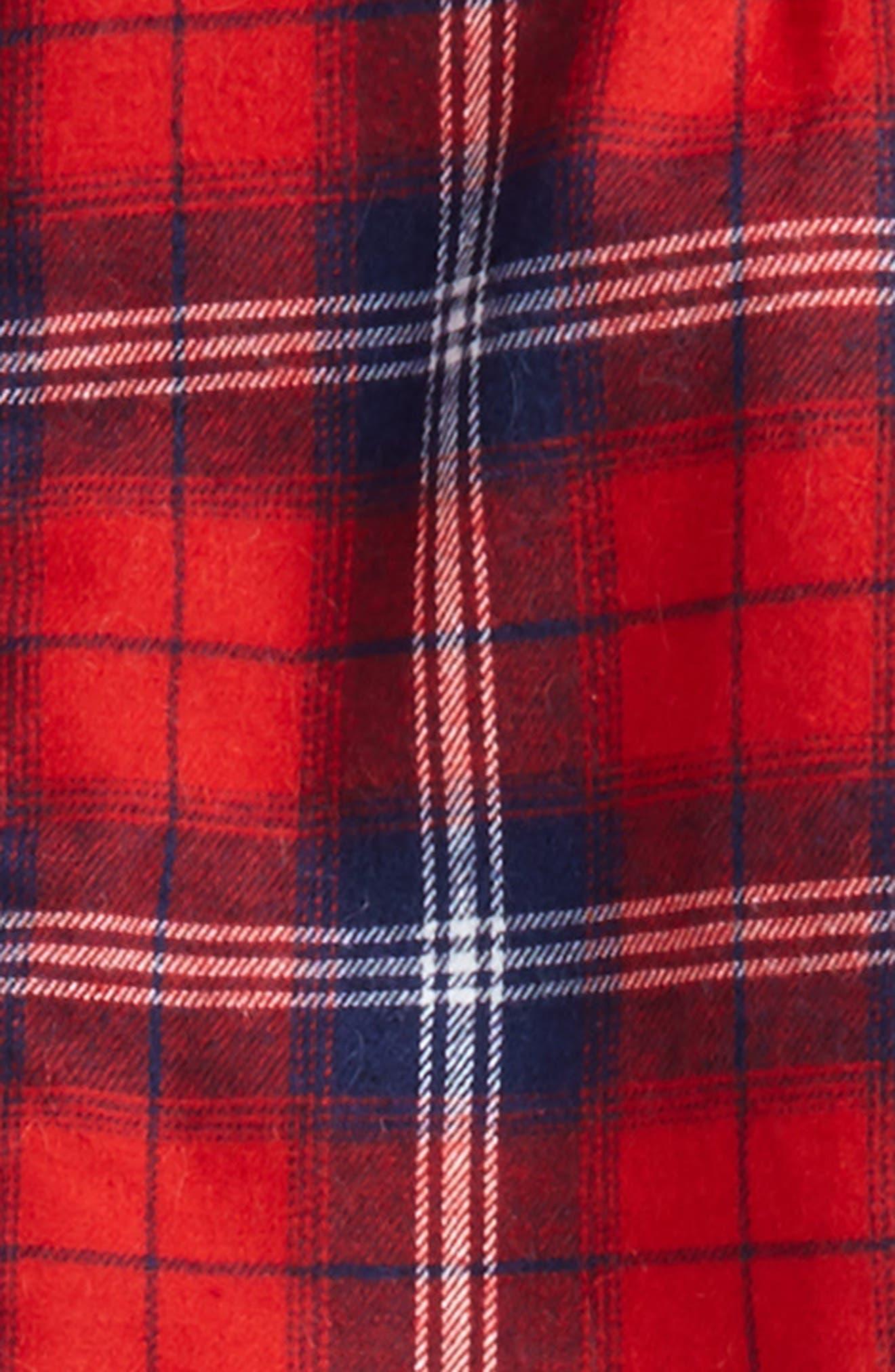 Plaid Faux Fur Lined Shirt & Pants Set,                             Alternate thumbnail 2, color,                             600