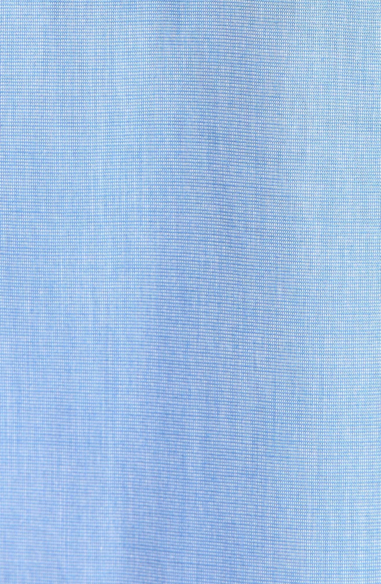 Cotton Short Pajamas,                             Alternate thumbnail 5, color,                             BLUE