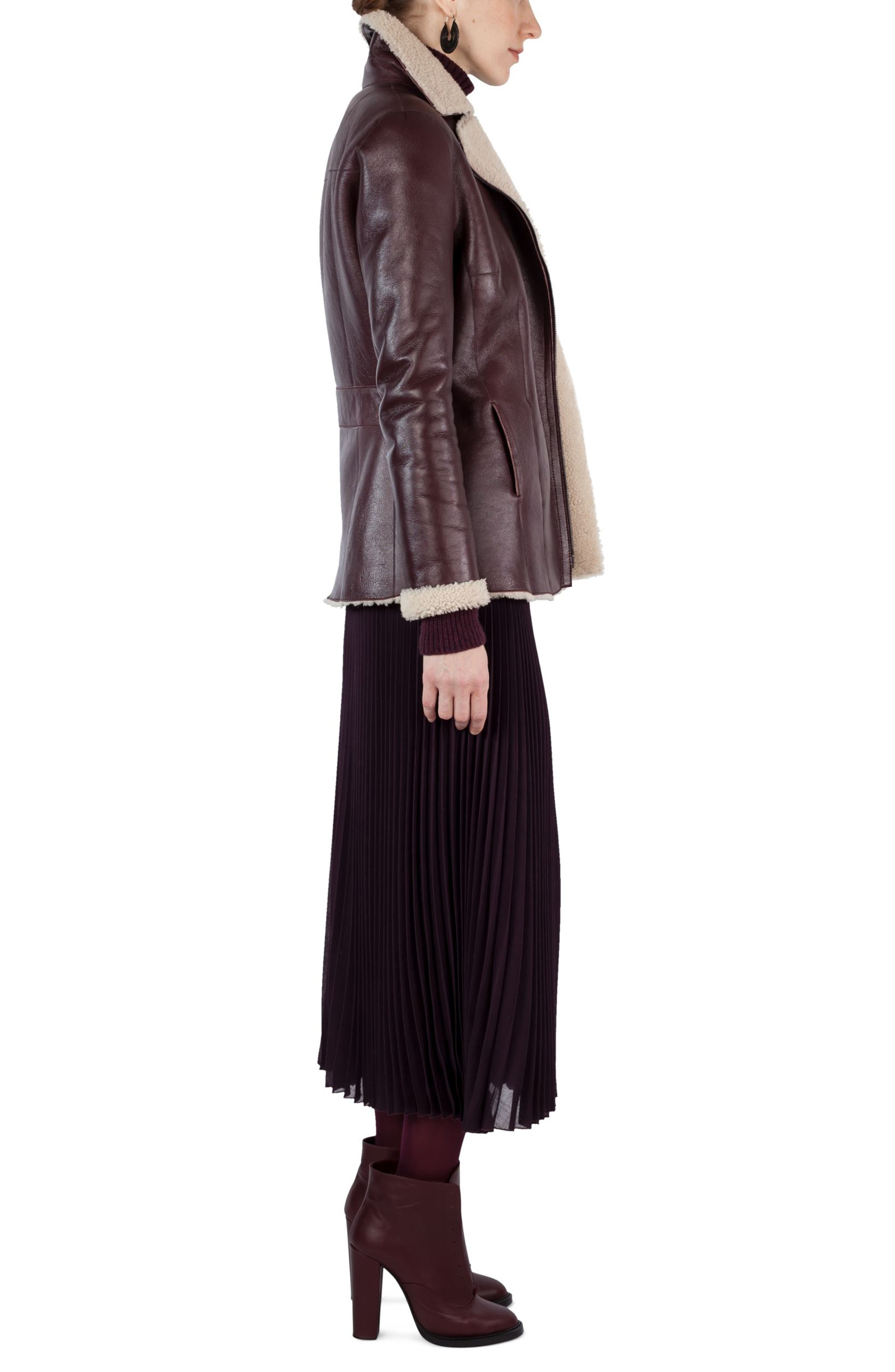 Plissé Midi Skirt,                             Alternate thumbnail 3, color,