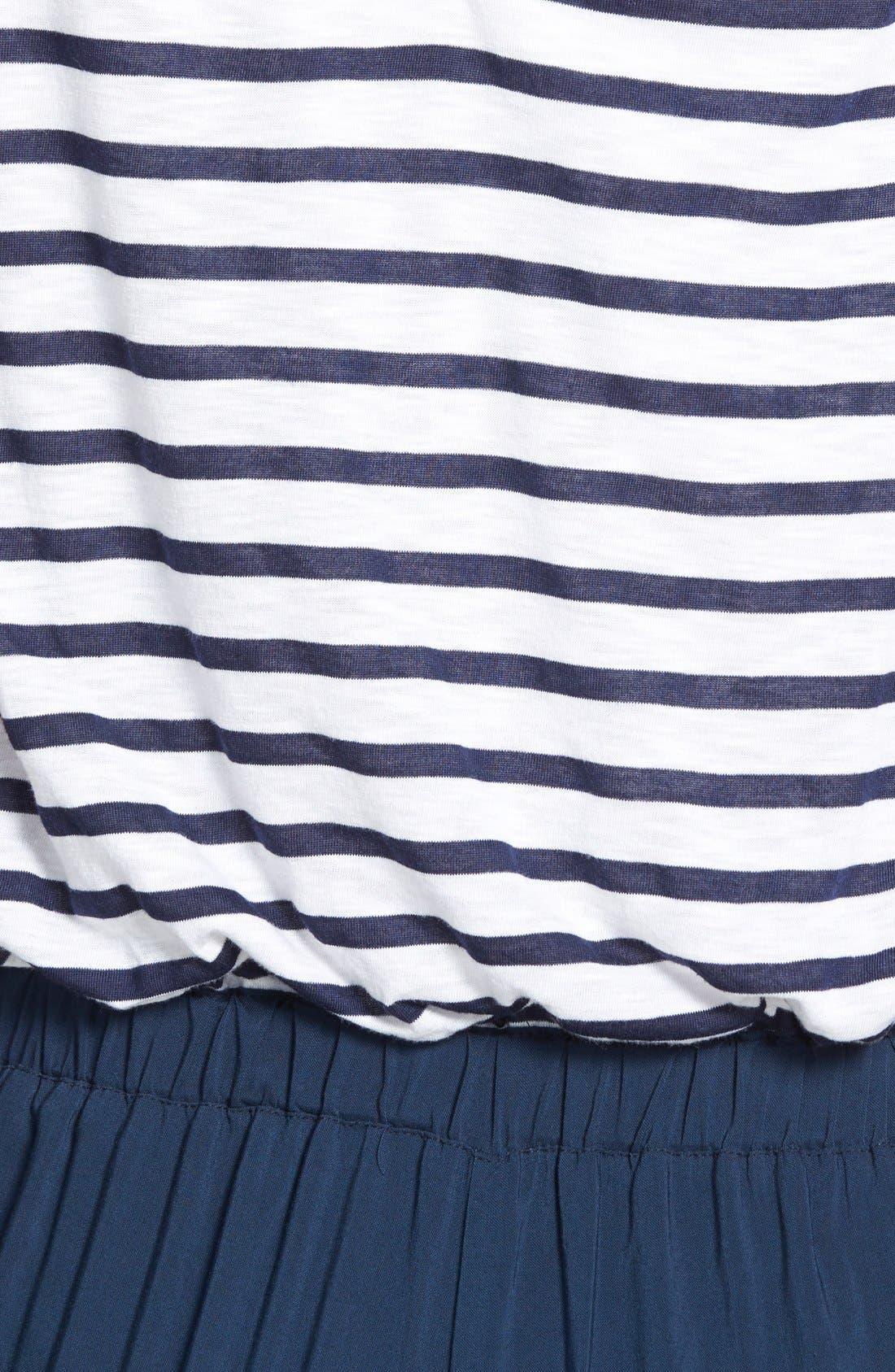 Nautical Stripe Jumpsuit,                             Alternate thumbnail 2, color,                             411