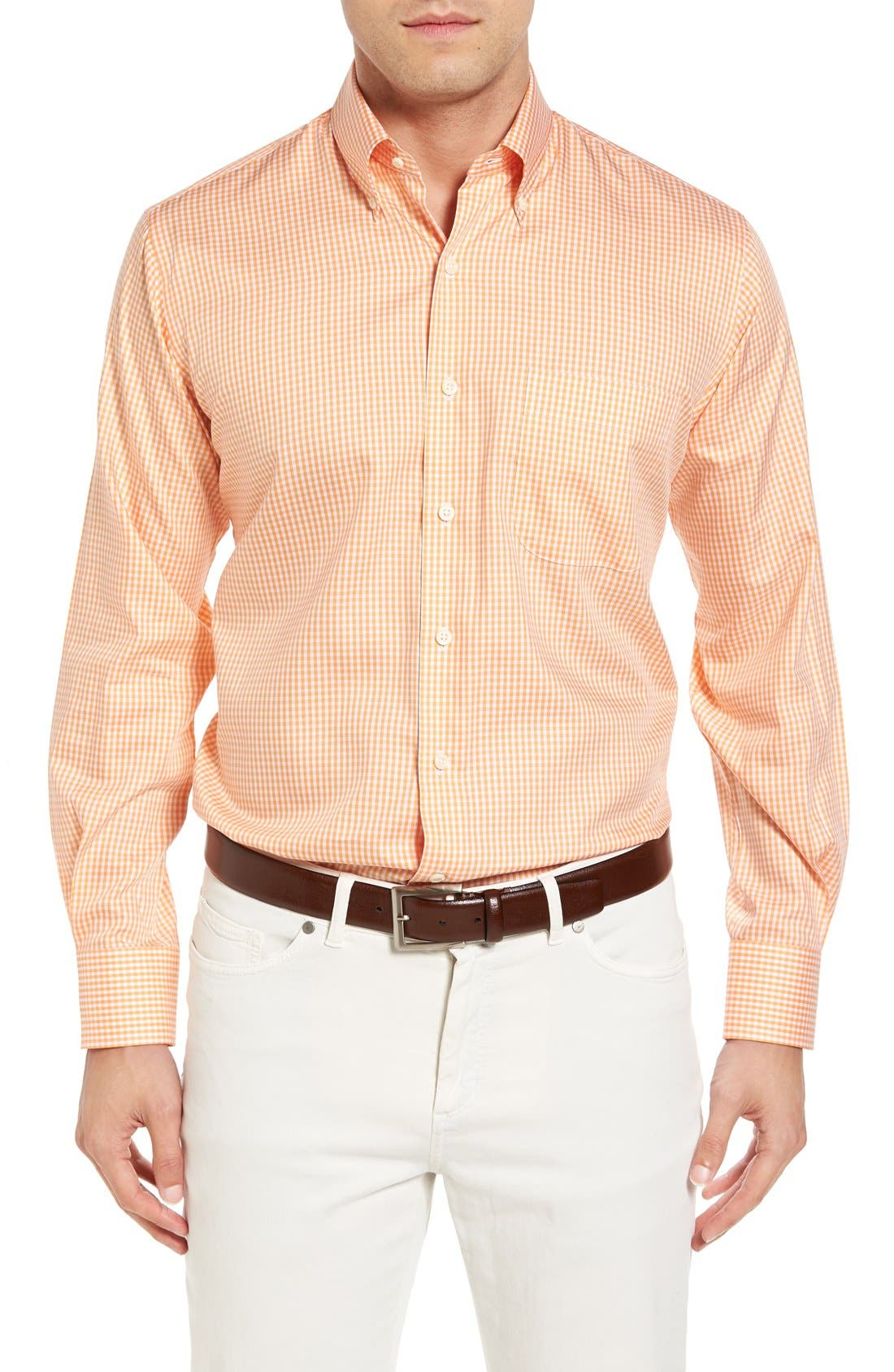 Crown Soft Gingham Regular Fit Sport Shirt,                             Main thumbnail 7, color,