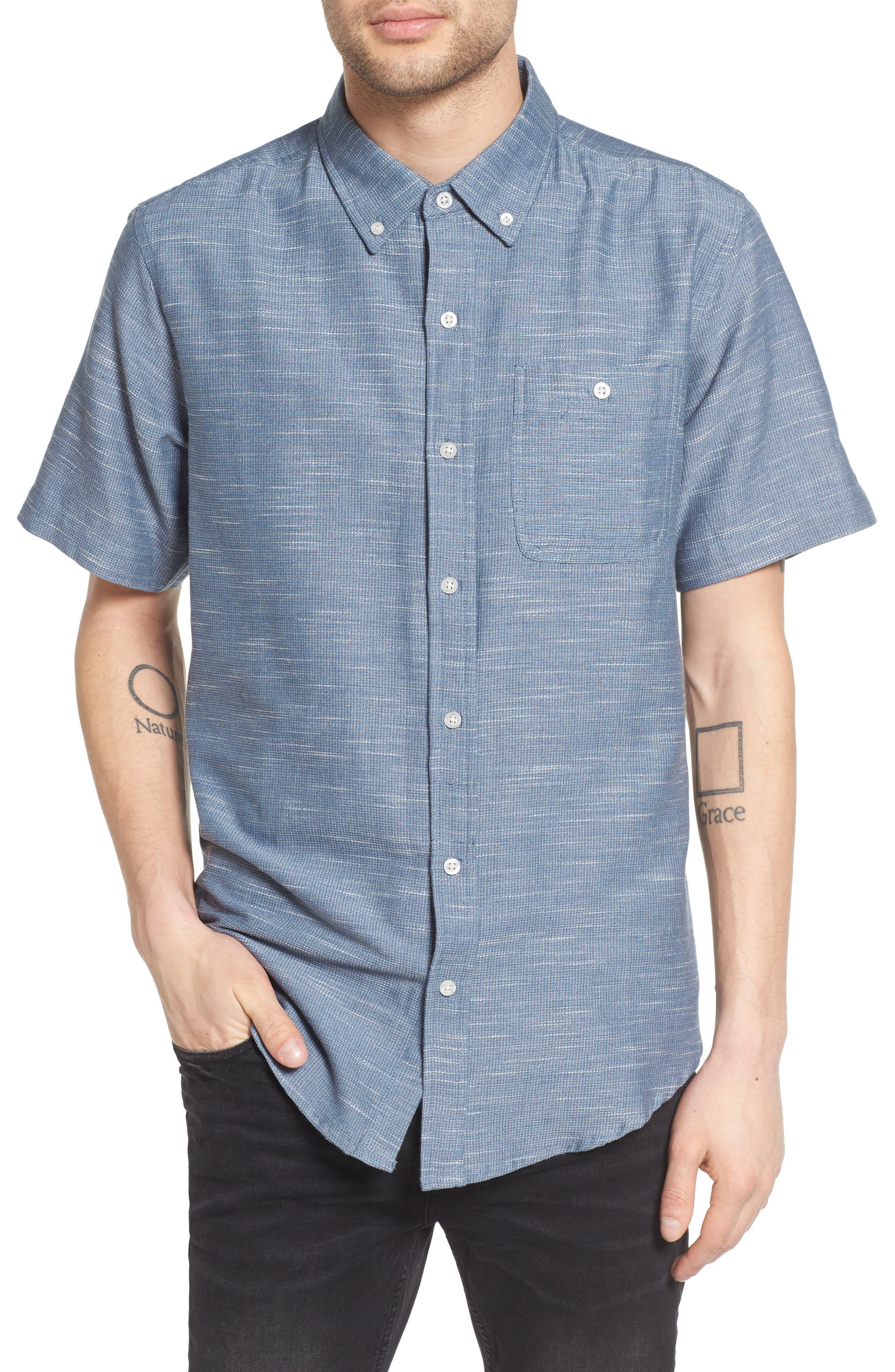 Textured Woven Shirt,                             Main thumbnail 1, color,                             476