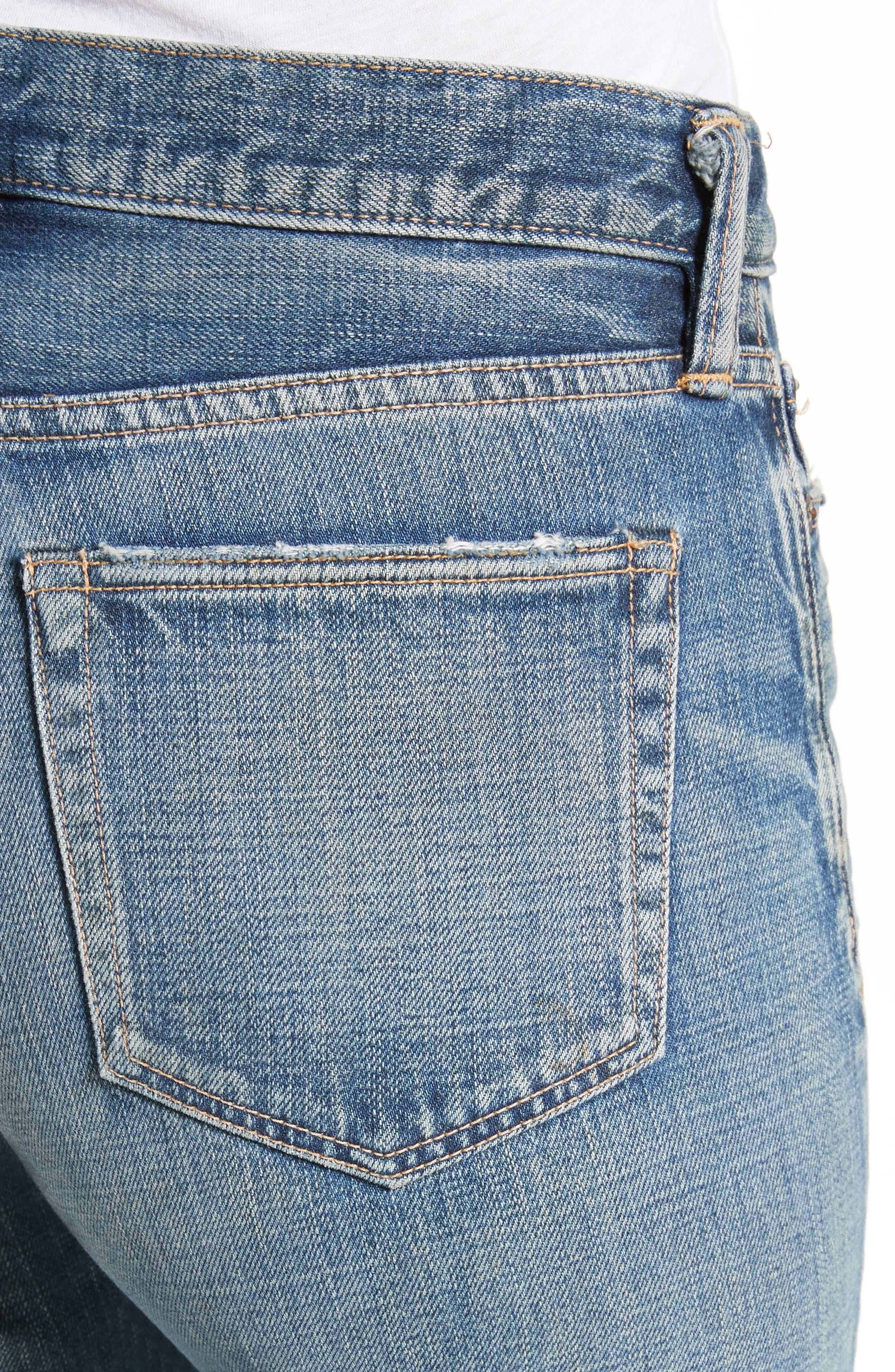 Gannett Denim Shorts,                             Alternate thumbnail 4, color,                             400