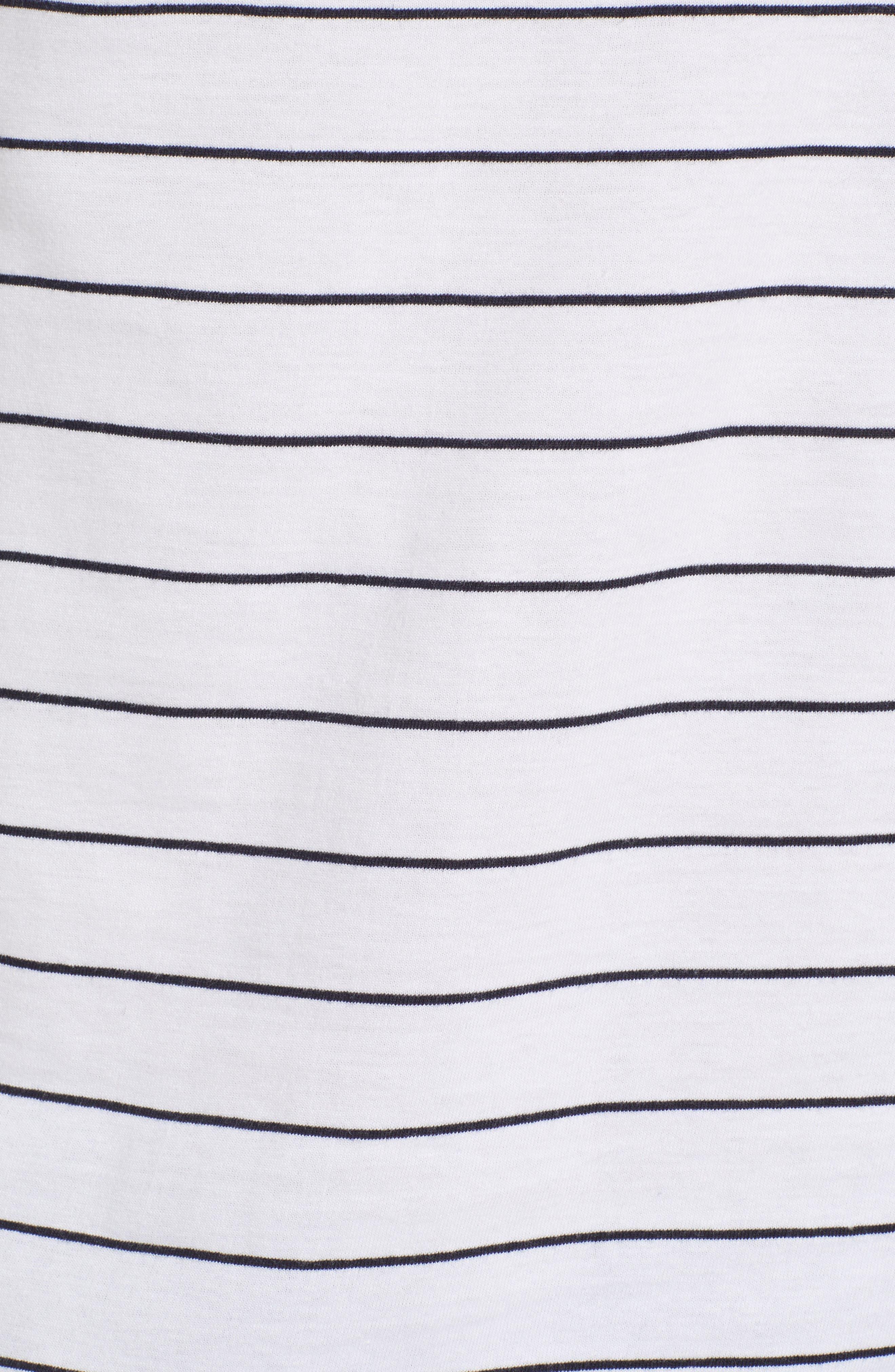 Summer Graded Stripe Pocket T-Shirt,                             Alternate thumbnail 5, color,                             WHITE MARINE BLUE