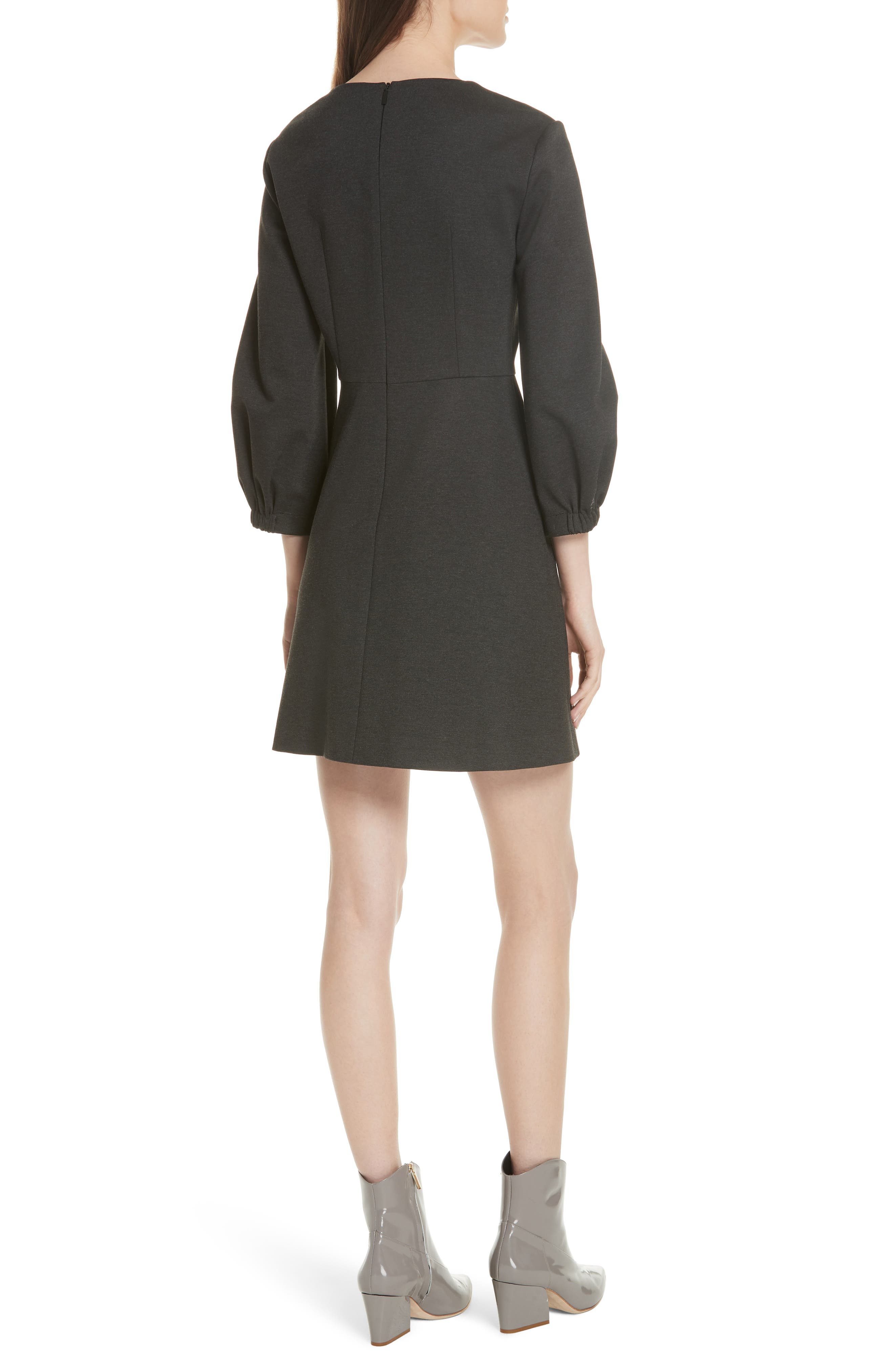 Bond Stretch Knit Puff Sleeve Dress,                             Alternate thumbnail 2, color,                             033