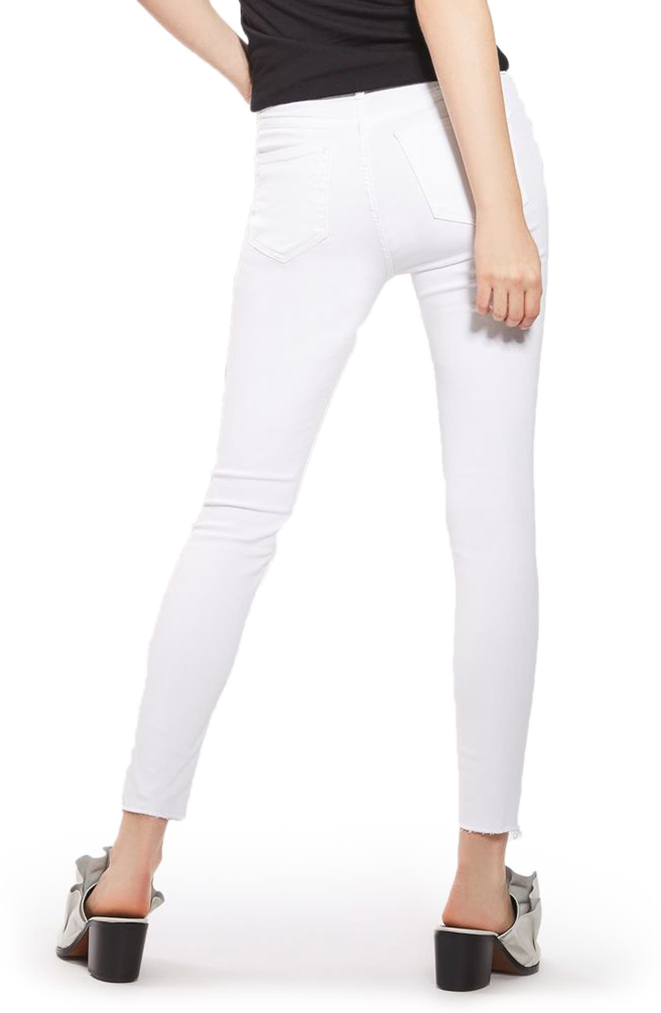 Jamie Raw Hem Skinny Jeans,                             Alternate thumbnail 2, color,                             100