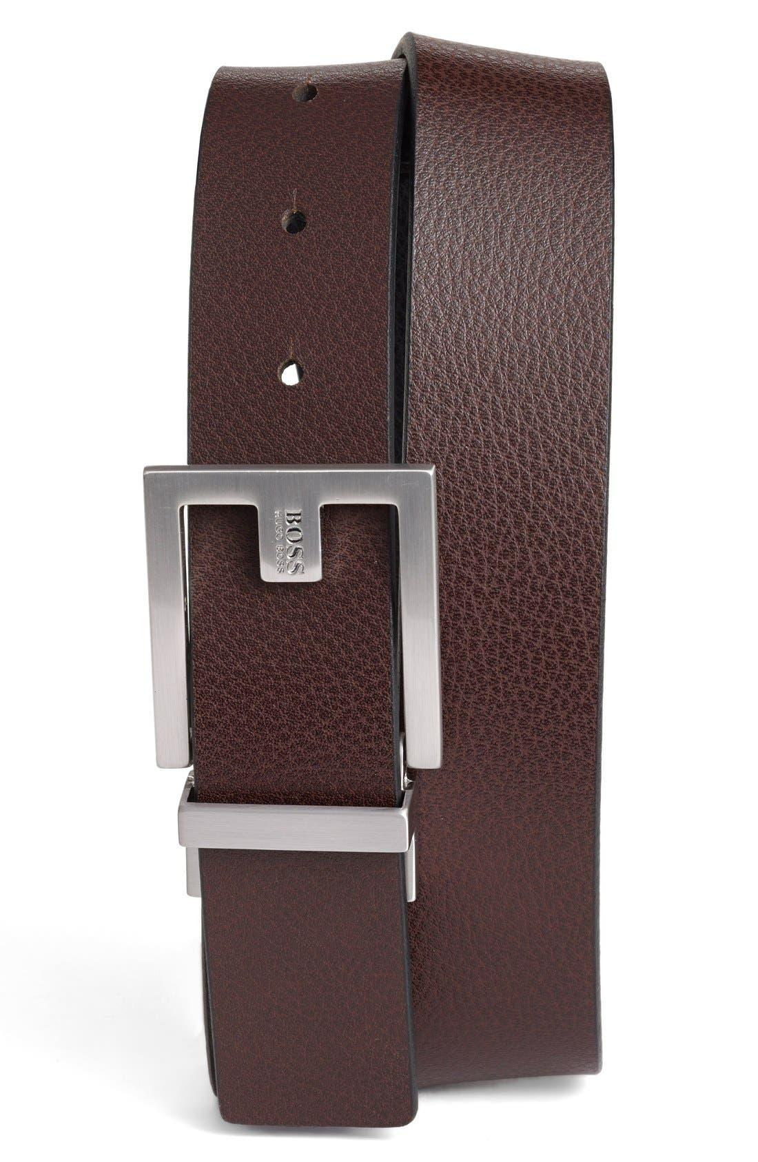Fleming Reversible Leather Belt,                             Alternate thumbnail 4, color,