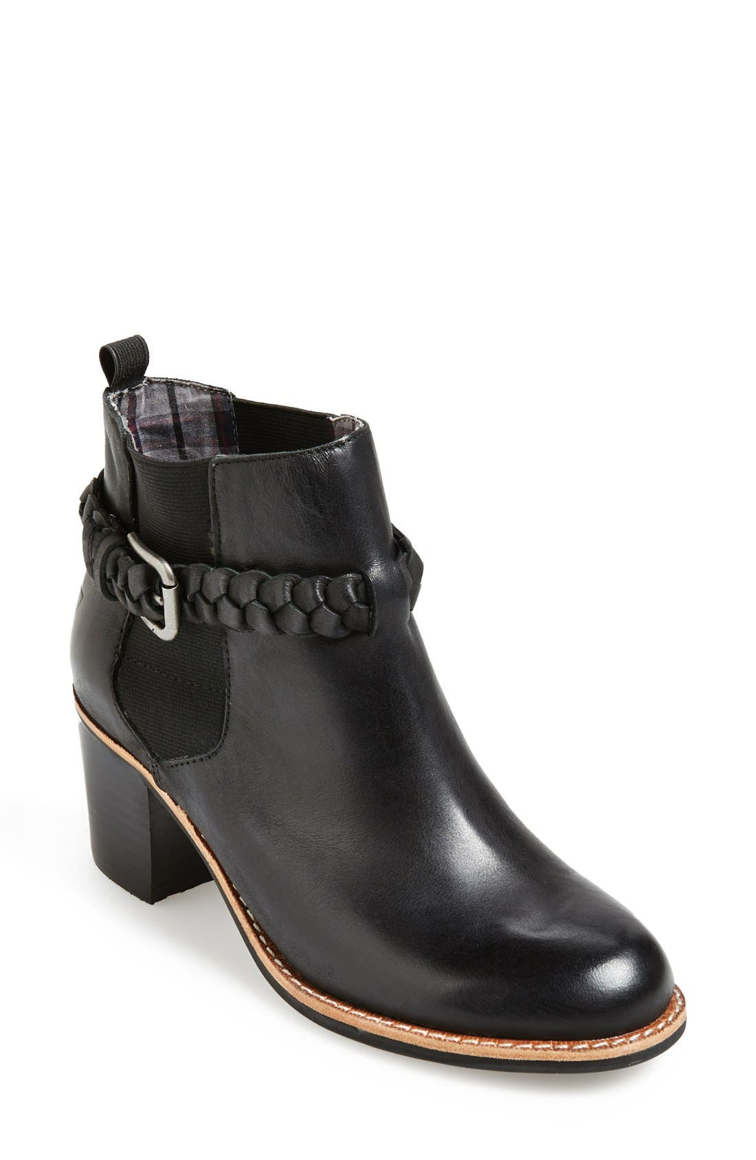 SPERRY,                             Top-Sider<sup>®</sup> 'Liberty' Leather Bootie,                             Main thumbnail 1, color,                             001
