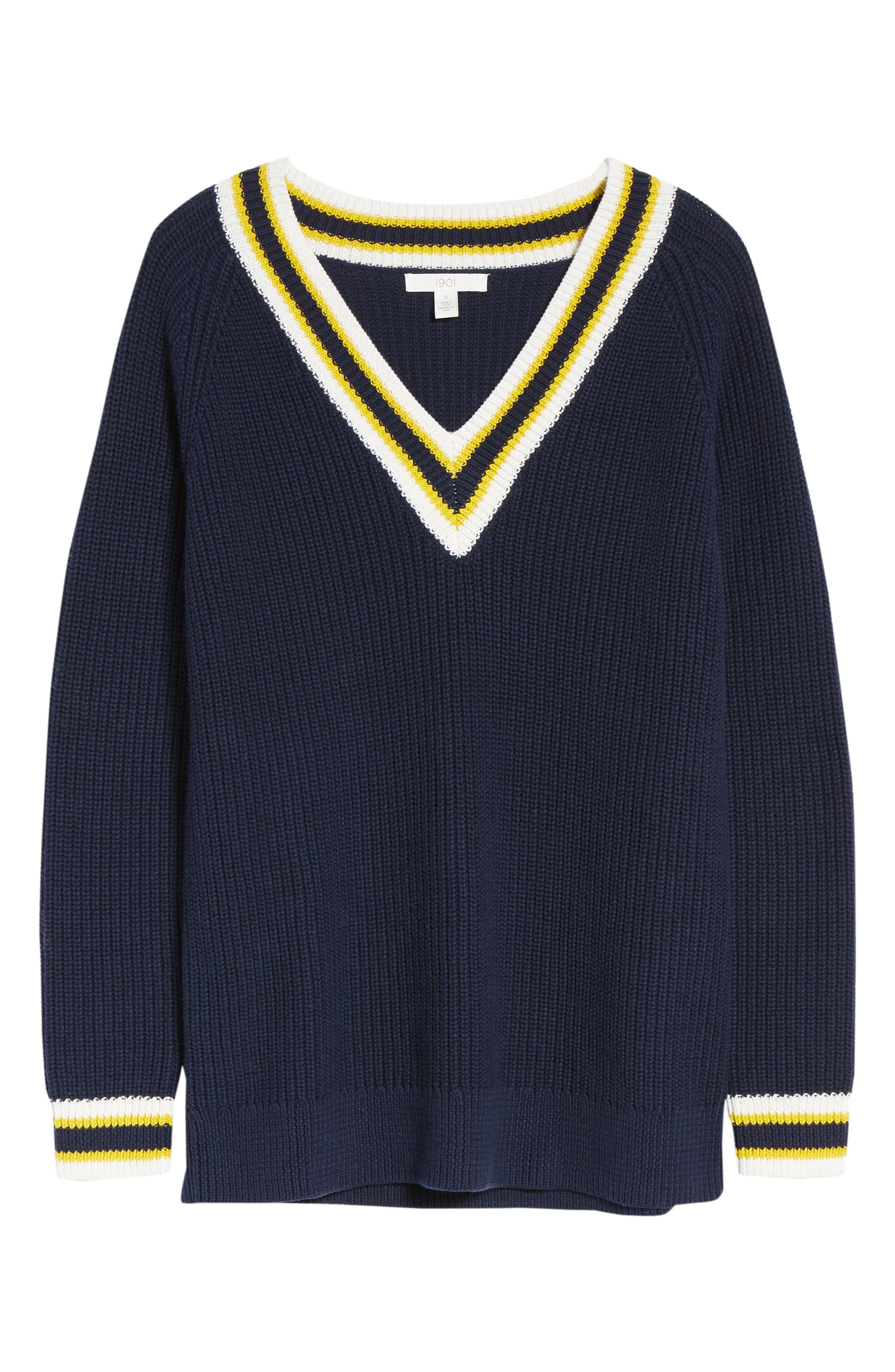 Tennis Sweater,                             Alternate thumbnail 7, color,                             410