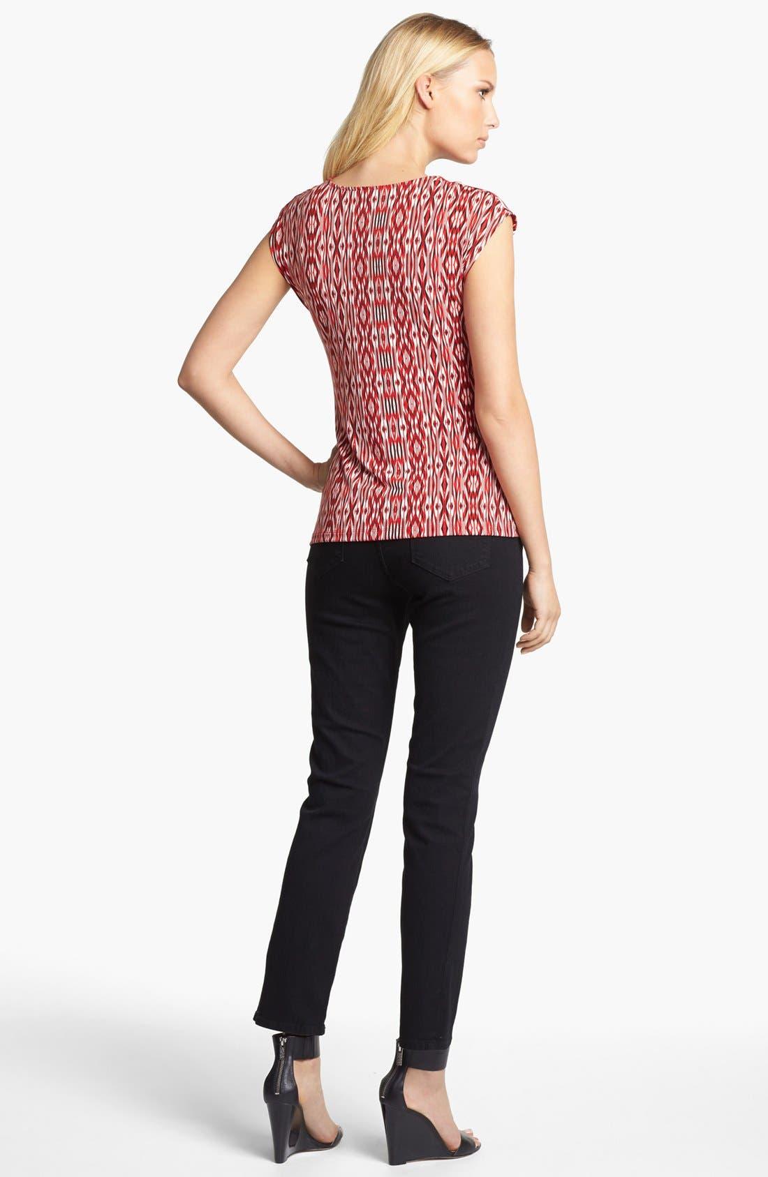 'Sheri' Stretch Skinny Jeans,                             Alternate thumbnail 4, color,                             001