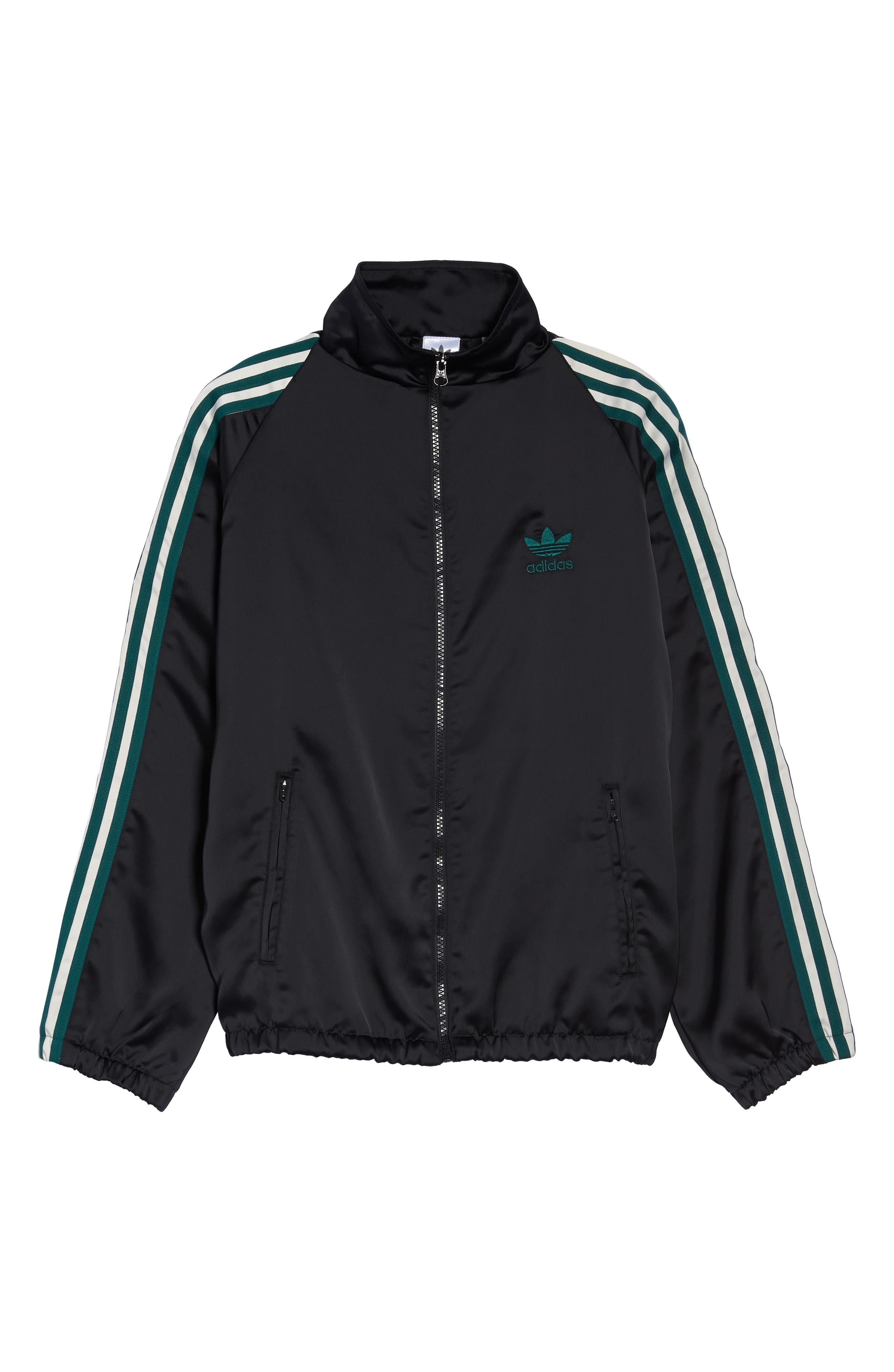 Adibreak Track Jacket,                             Alternate thumbnail 7, color,                             BLACK