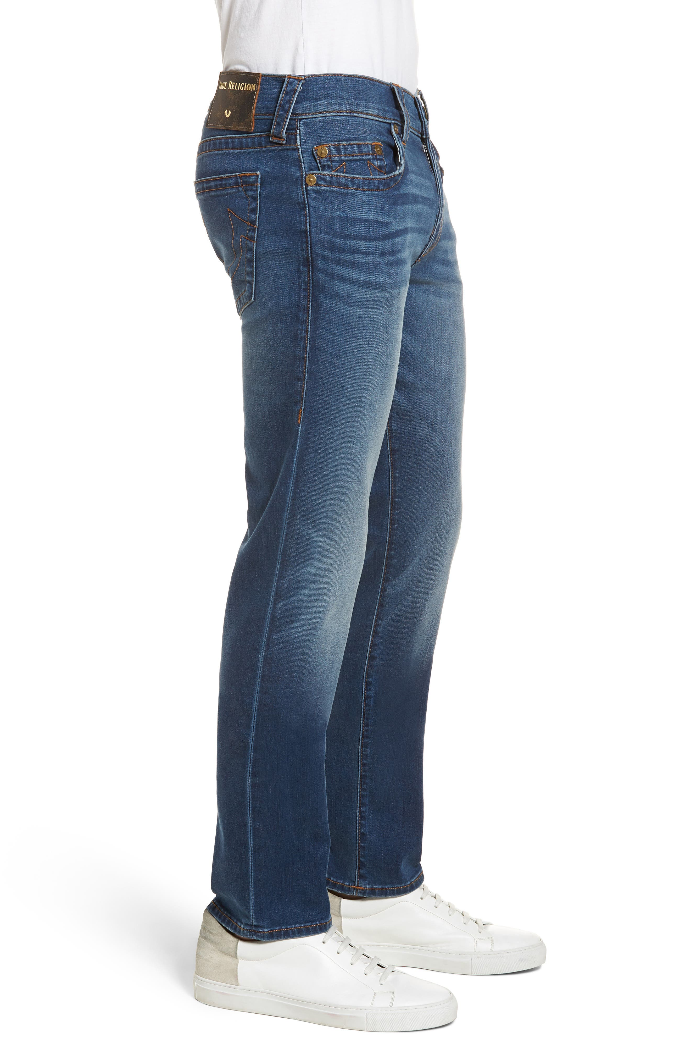 Geno Straight Leg Jeans,                             Alternate thumbnail 3, color,                             INDIGO LAKE